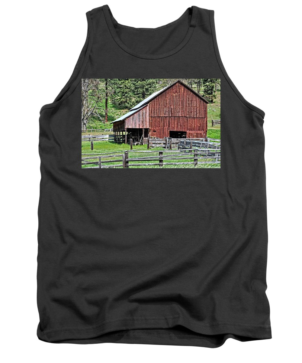 Barn Tank Top featuring the photograph Oregon by Image Takers Photography LLC