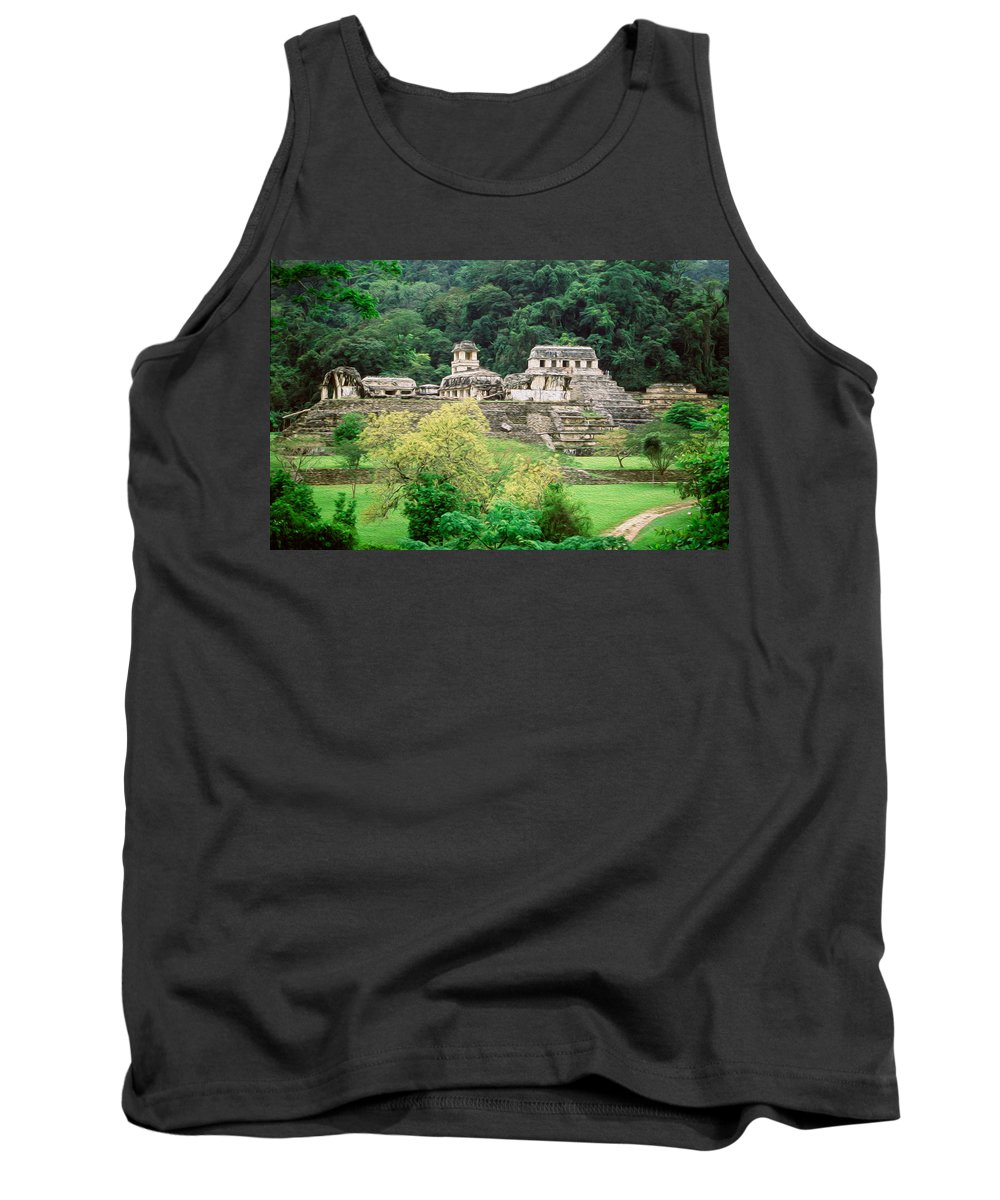 America Tank Top featuring the digital art Palenque City by Roy Pedersen