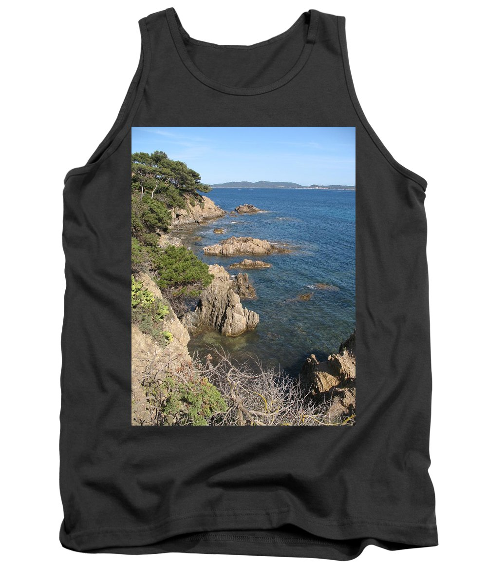 Peninsula Tank Top featuring the photograph Peninsula Gien by Christiane Schulze Art And Photography