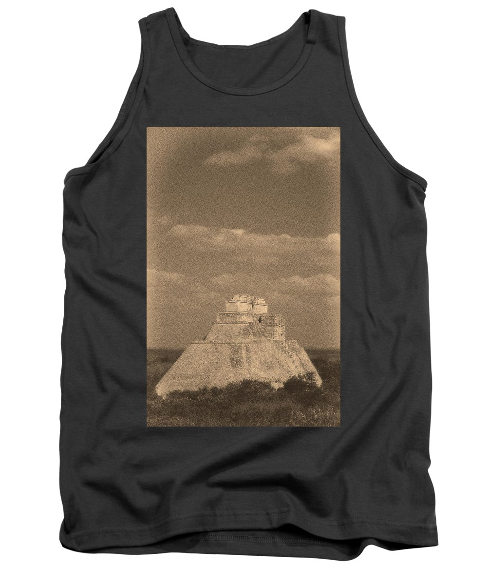 America Tank Top featuring the digital art Uxmal Ruins by Roy Pedersen