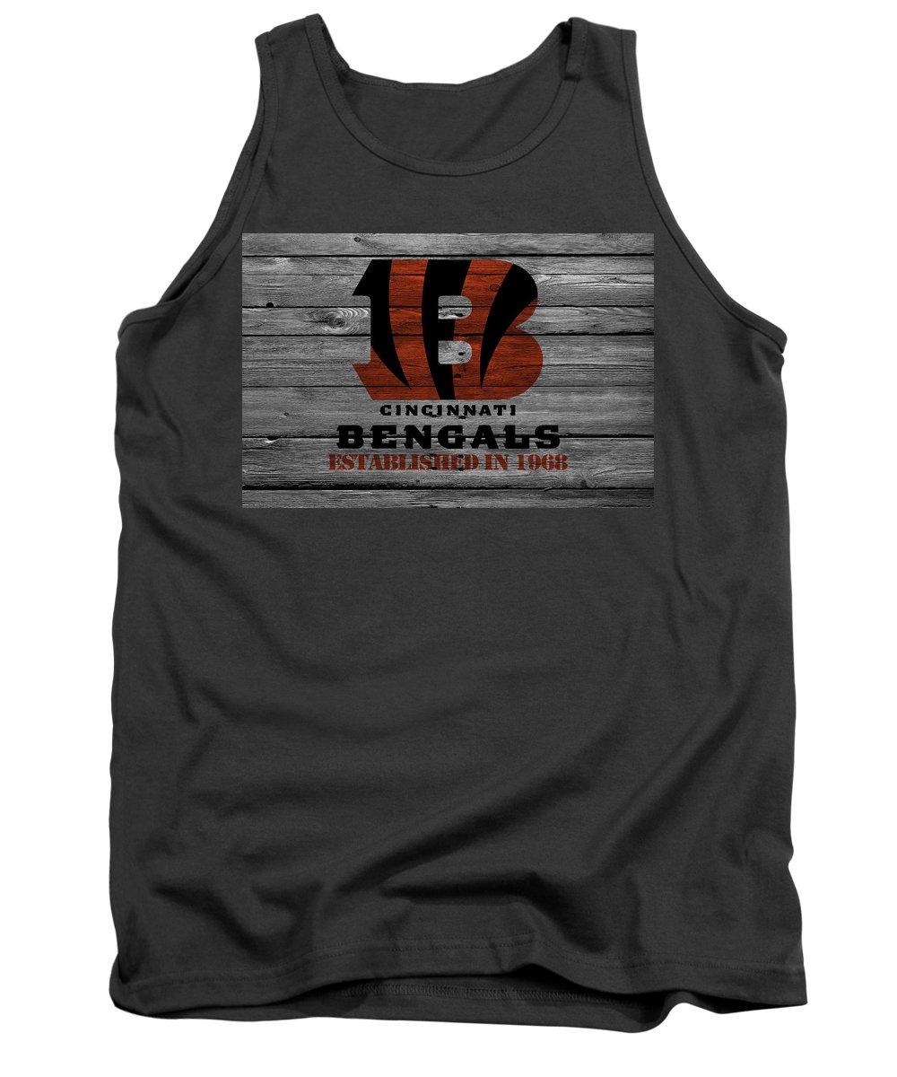 Bengals Tank Top featuring the photograph Cincinnati Bengals by Joe Hamilton