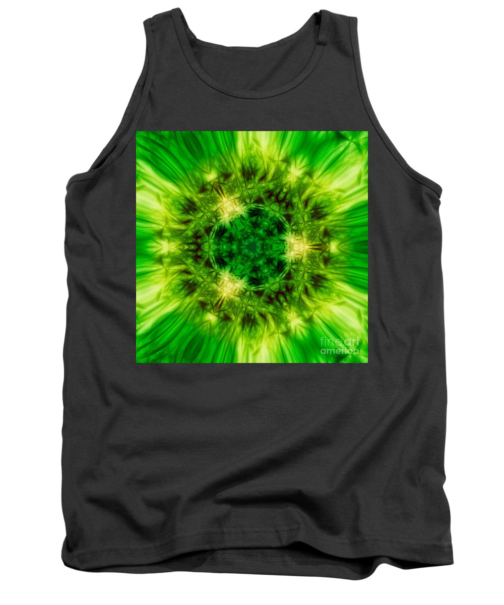 Art Tank Top featuring the digital art Abstract by Dan Radi