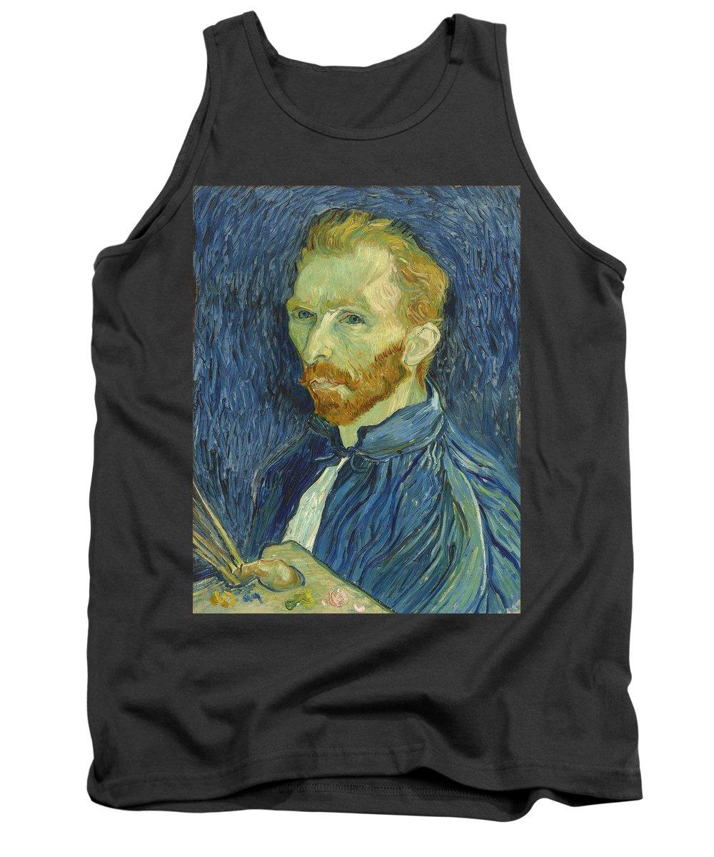 Vincent Van Gogh Tank Top featuring the painting Self-portrait by Vincent van Gogh