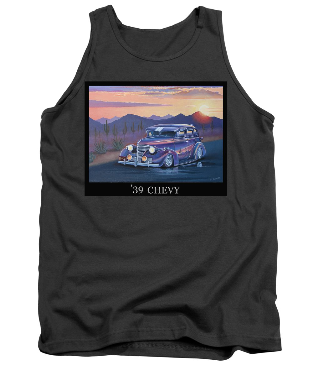 Automotive Tank Top featuring the painting '39 Chevy by Stuart Swartz