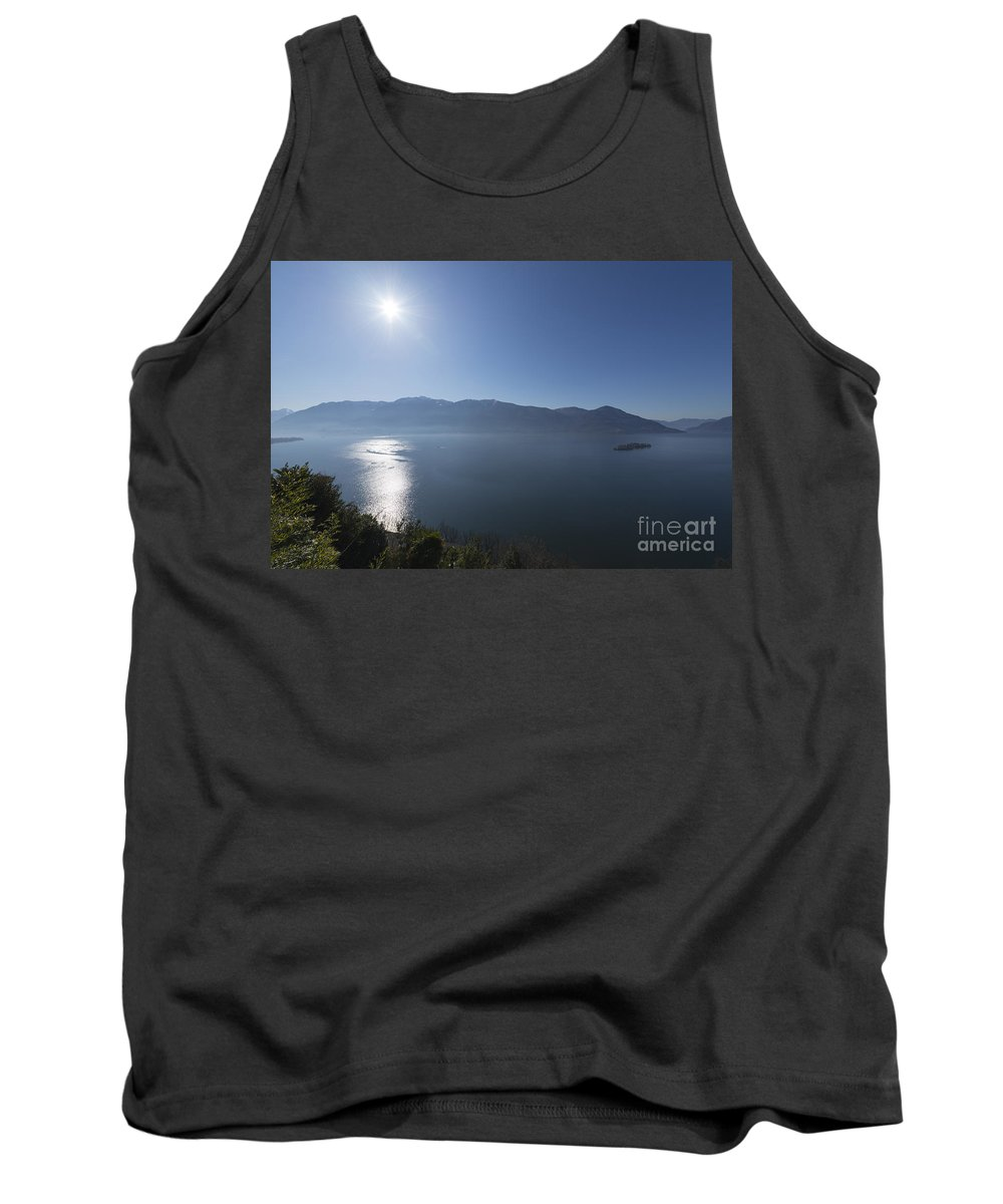 Lake Tank Top featuring the photograph Alpine Lake With Mountain by Mats Silvan