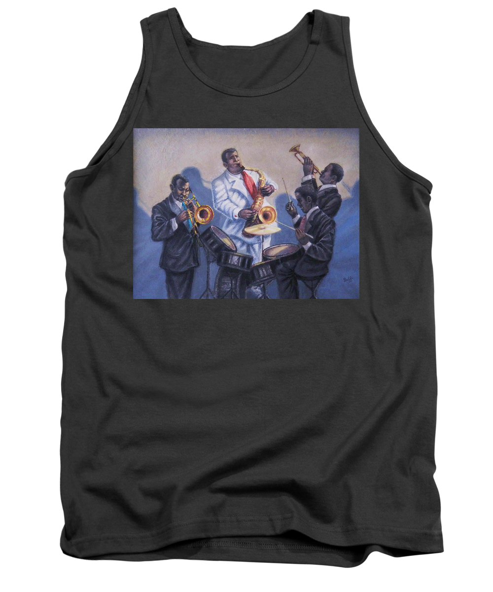 Jazz Tank Top featuring the painting Big Jay And Company by Raffi Jacobian