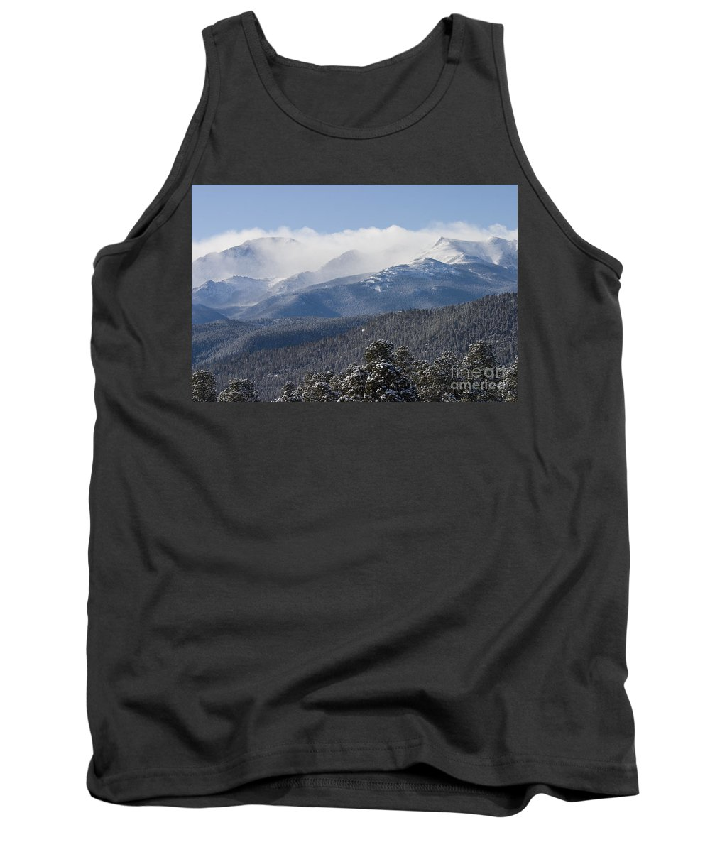 Pikes Peak Tank Top featuring the photograph Blizzard Peak by Steve Krull