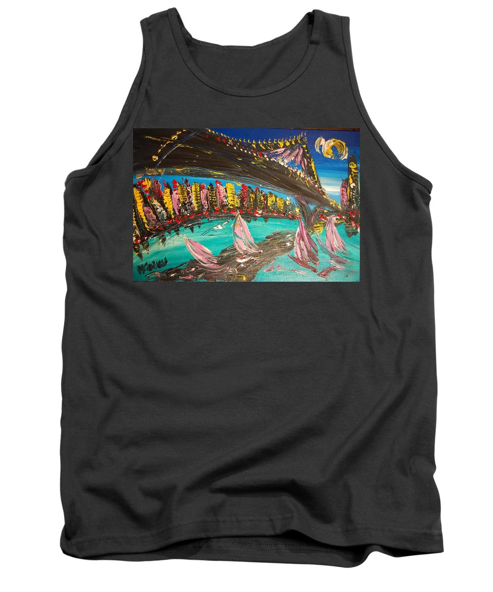 Tank Top featuring the painting Brooklyn by Mark Kazav