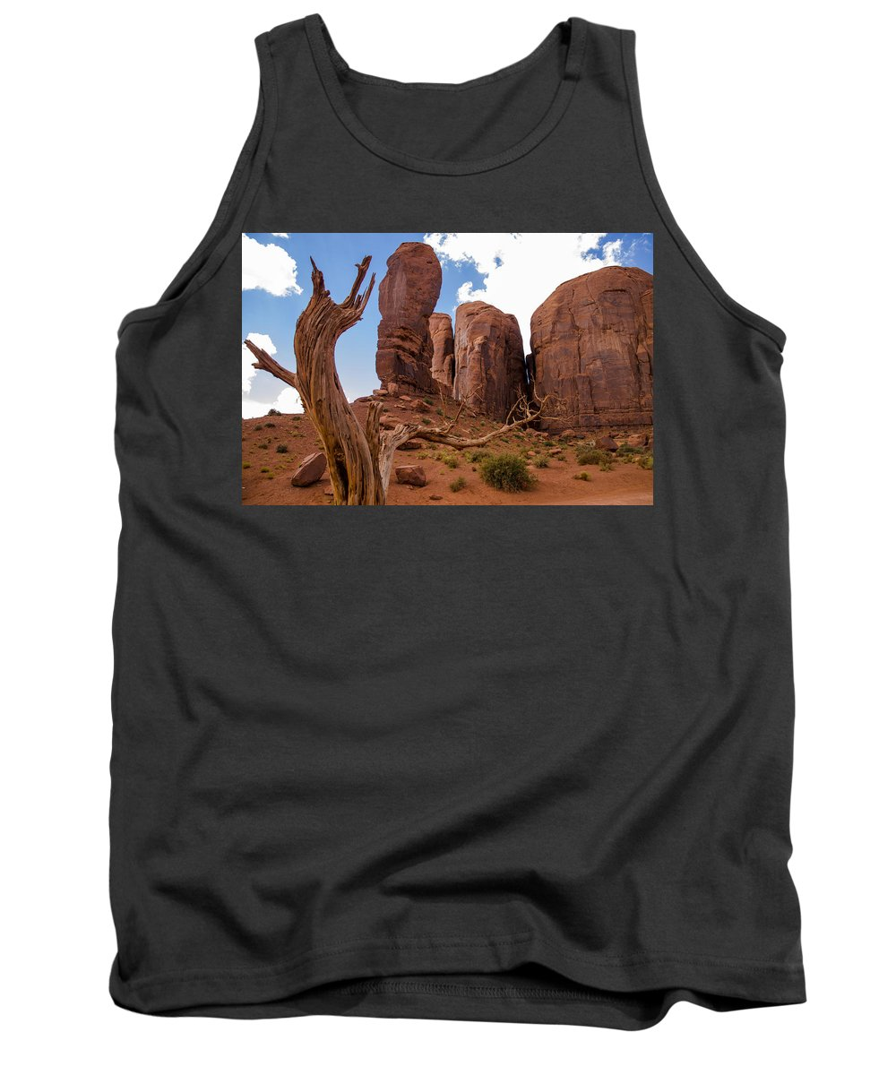 Landscape Tank Top featuring the photograph Monument Valley - Arizona by Jon Berghoff