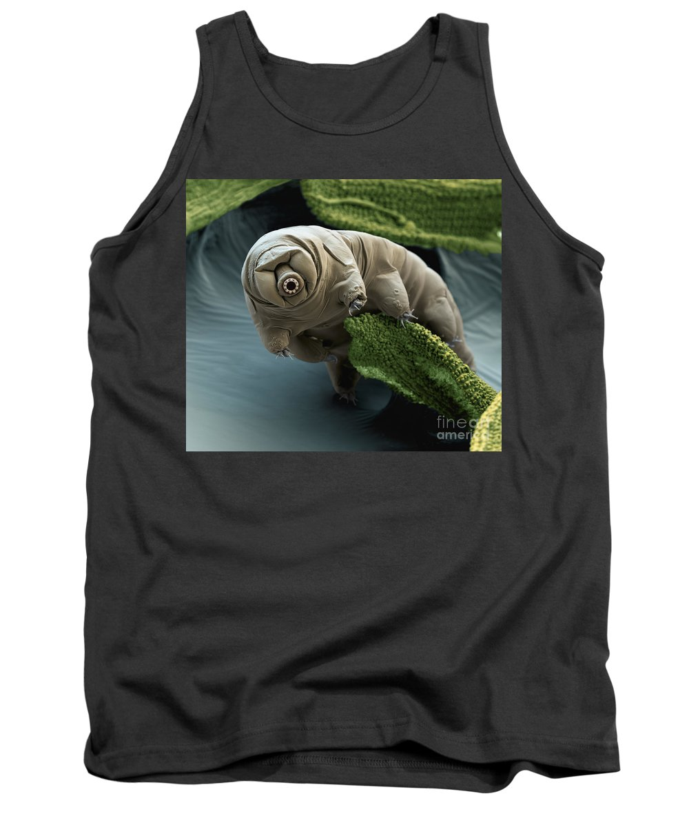 Water Bear Tank Top featuring the photograph Water Bear by Eye of Science