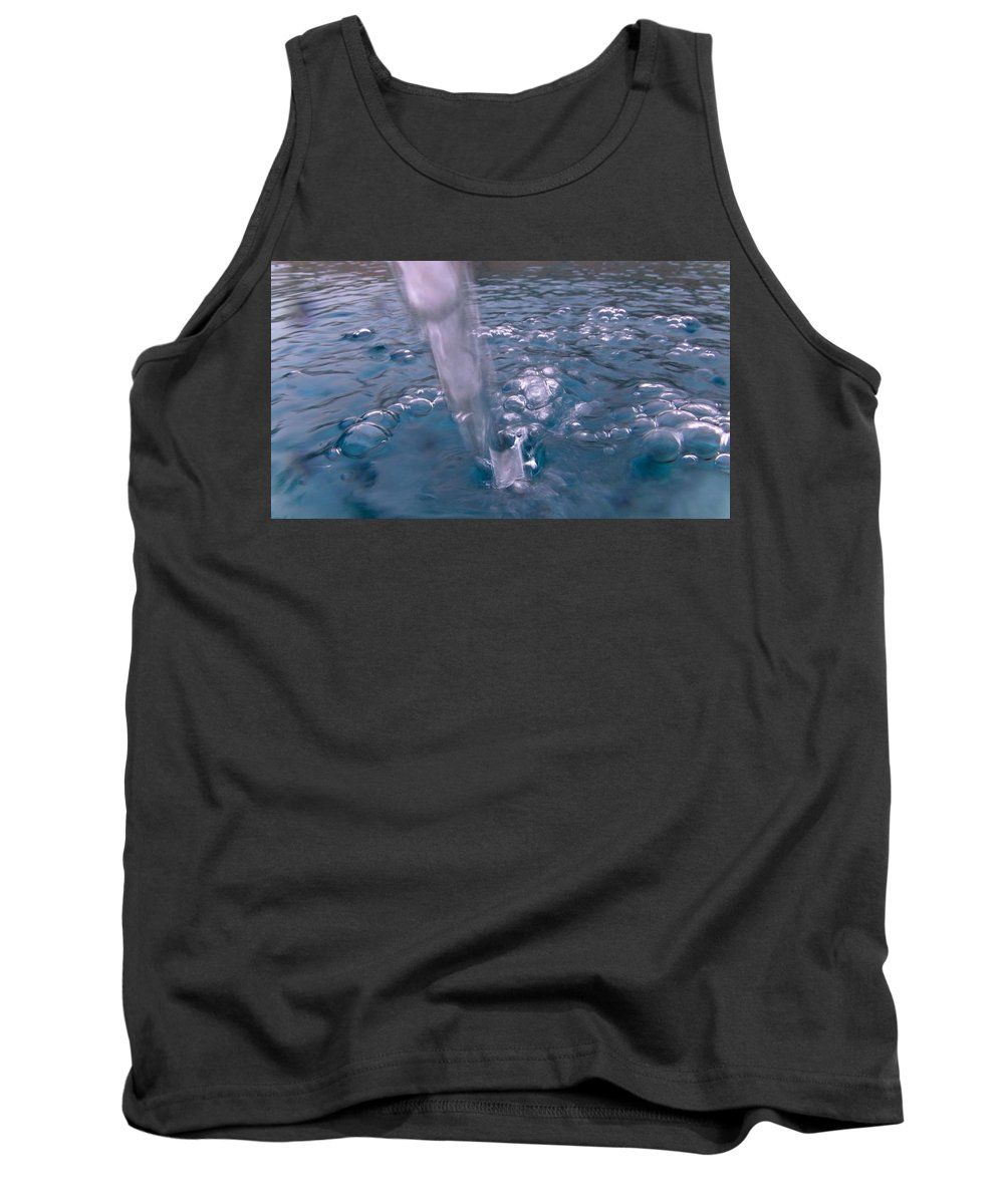 Australia Tank Top featuring the photograph Australia - Deep Blue Green Water Bubbles by Jeffrey Shaw
