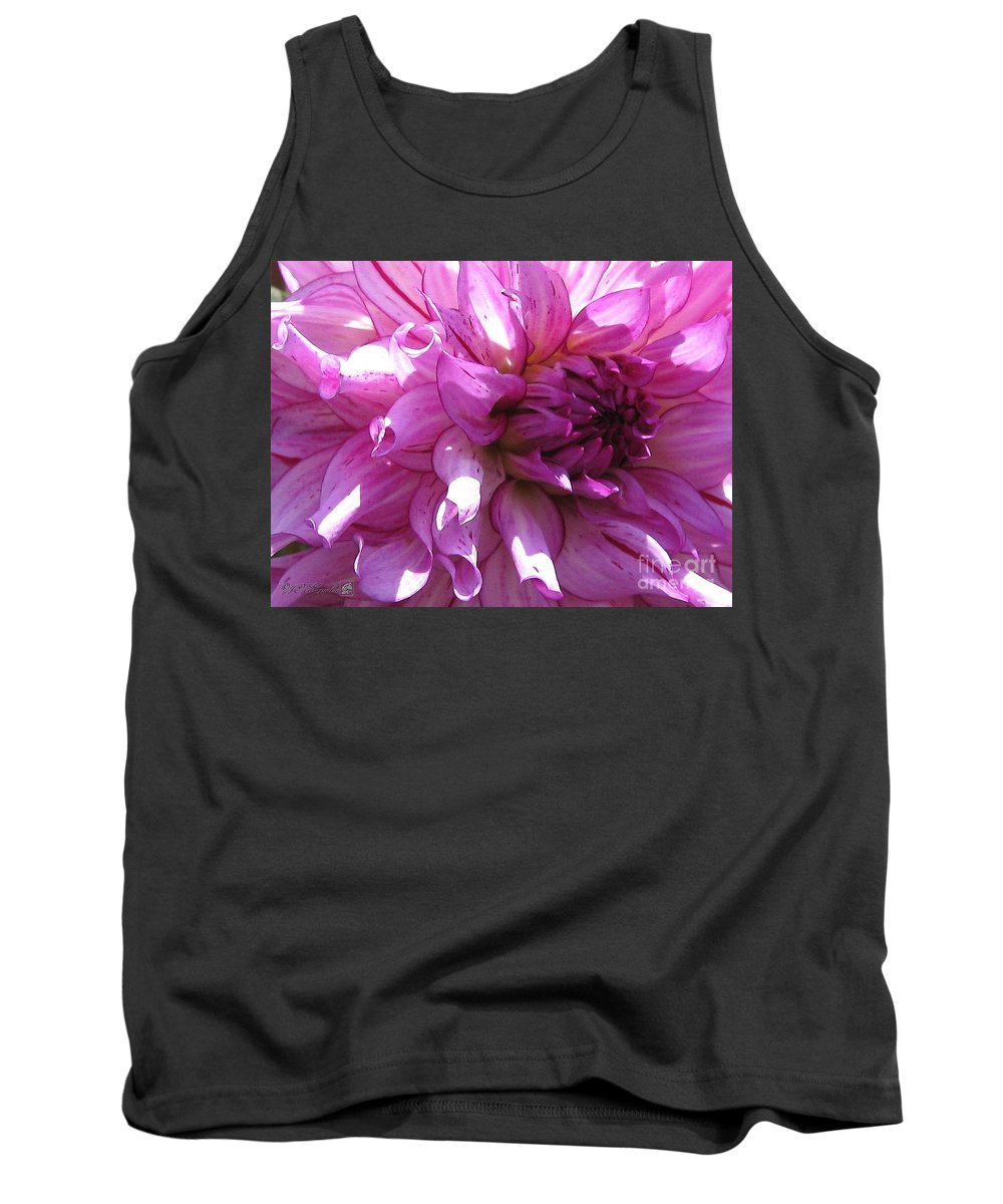 Dahlia Tank Top featuring the painting Dahlia Named Annette C by J McCombie