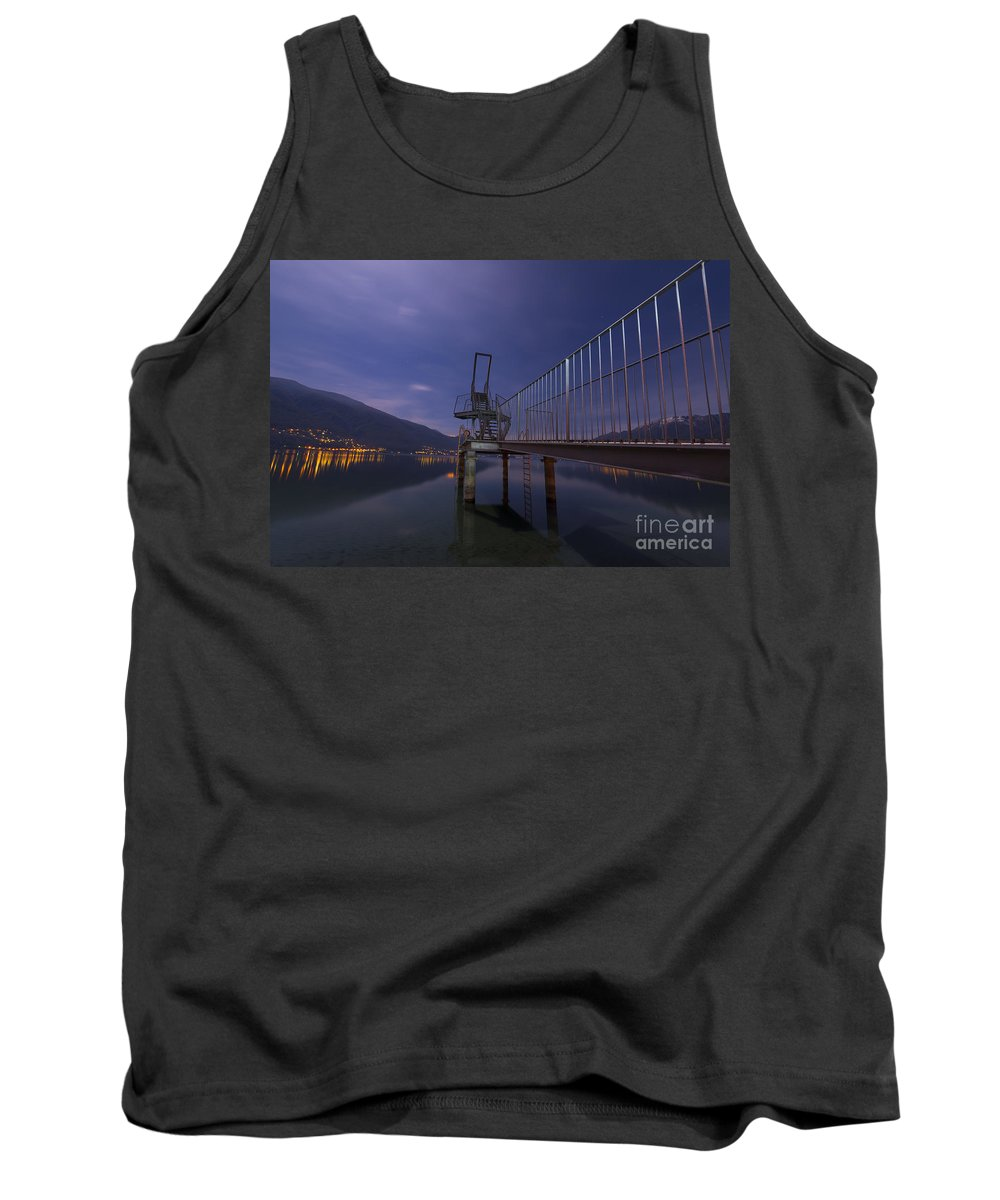 Diving Board Tank Top featuring the photograph Diving Board by Mats Silvan