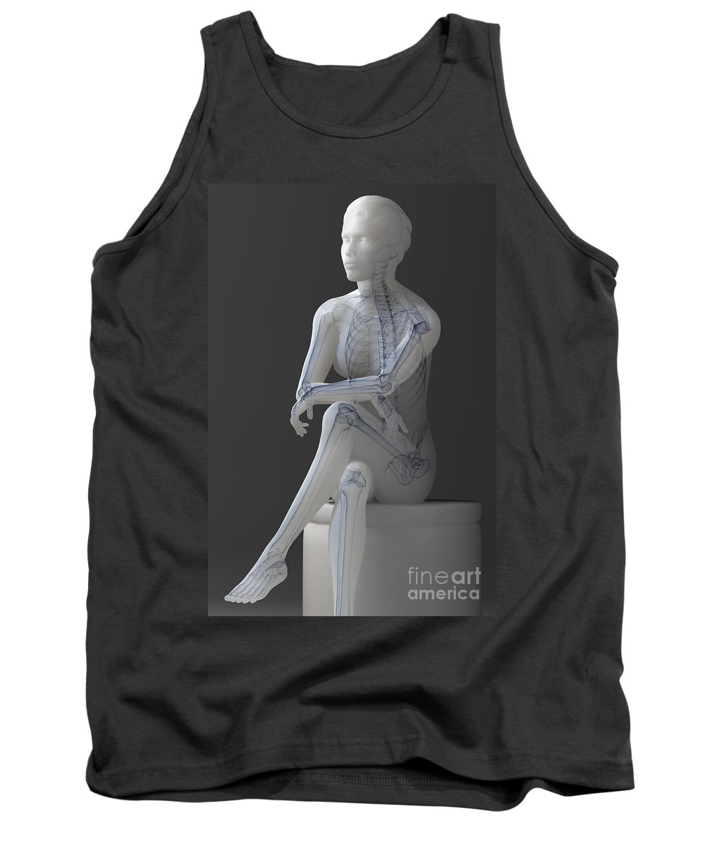Transparent Tank Top featuring the photograph Female Anatomy by Science Picture Co