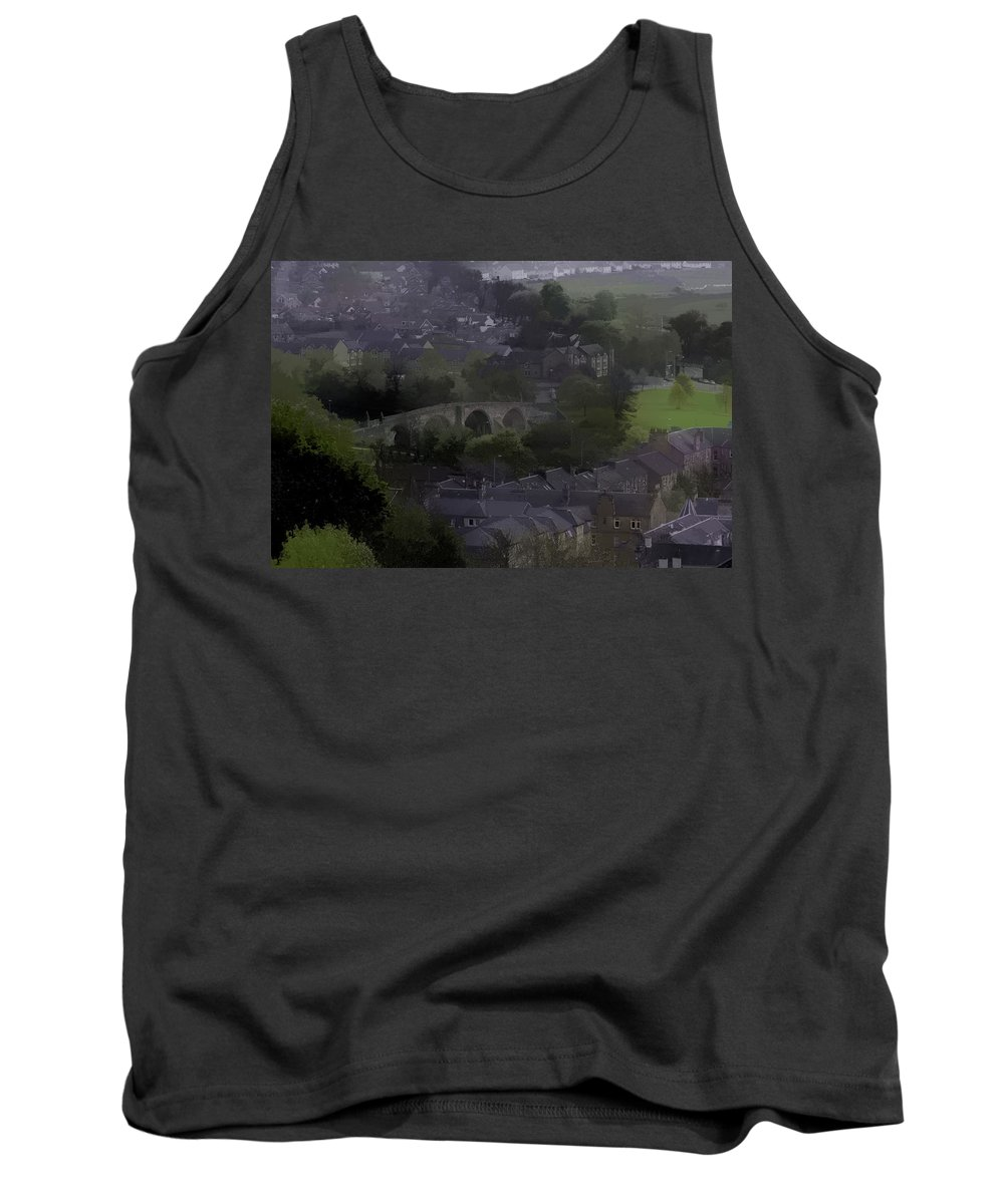 Bridge Tank Top featuring the photograph Old Stirling Bridge And Houses As Visible From Stirling Castle by Ashish Agarwal