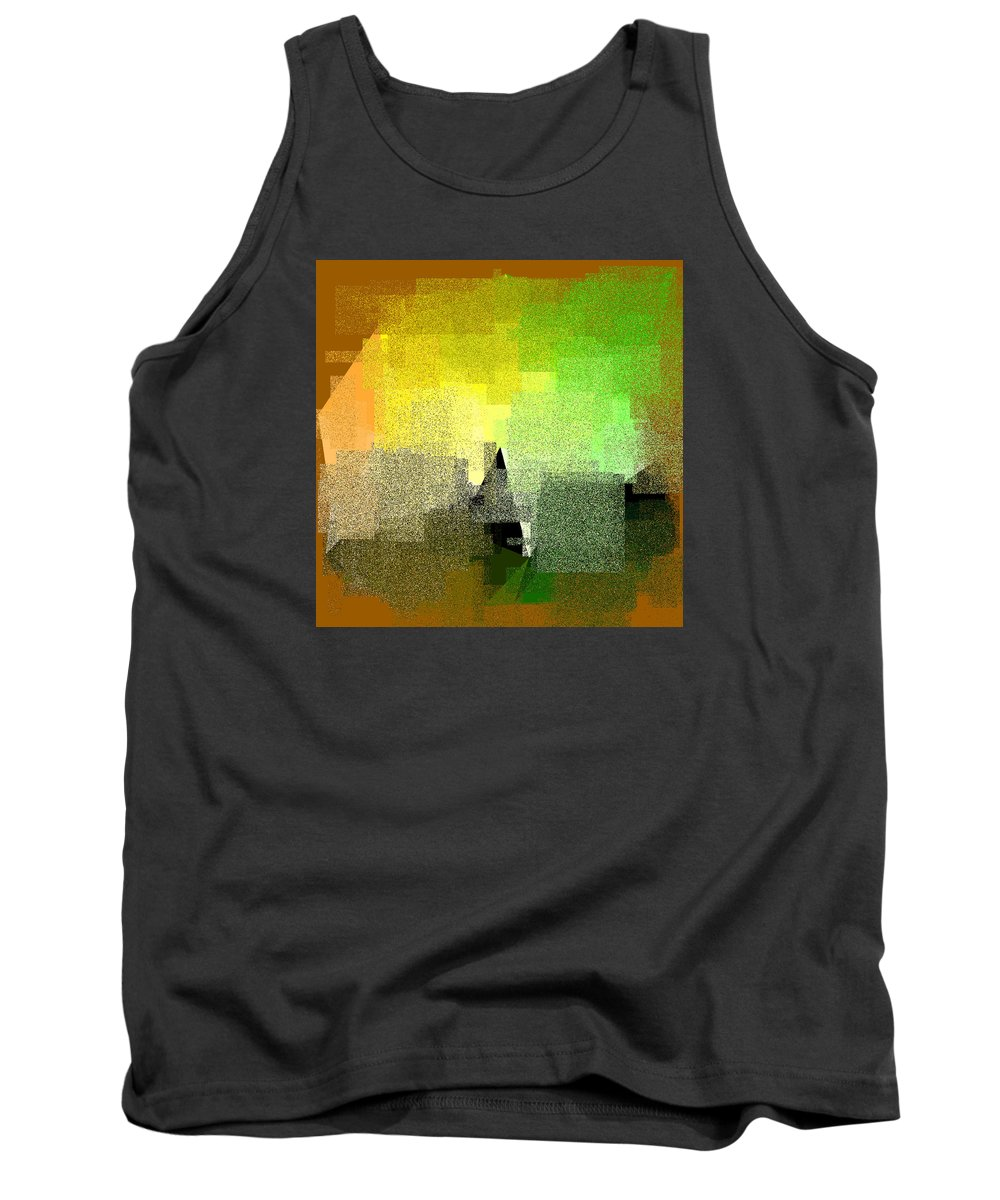 Abstract Tank Top featuring the digital art 5120.5.55 by Gareth Lewis