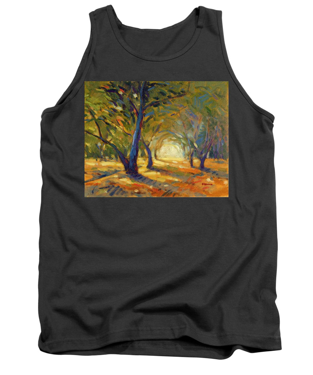 Forest Tank Top featuring the painting Our Secret Place 8 by Konnie Kim