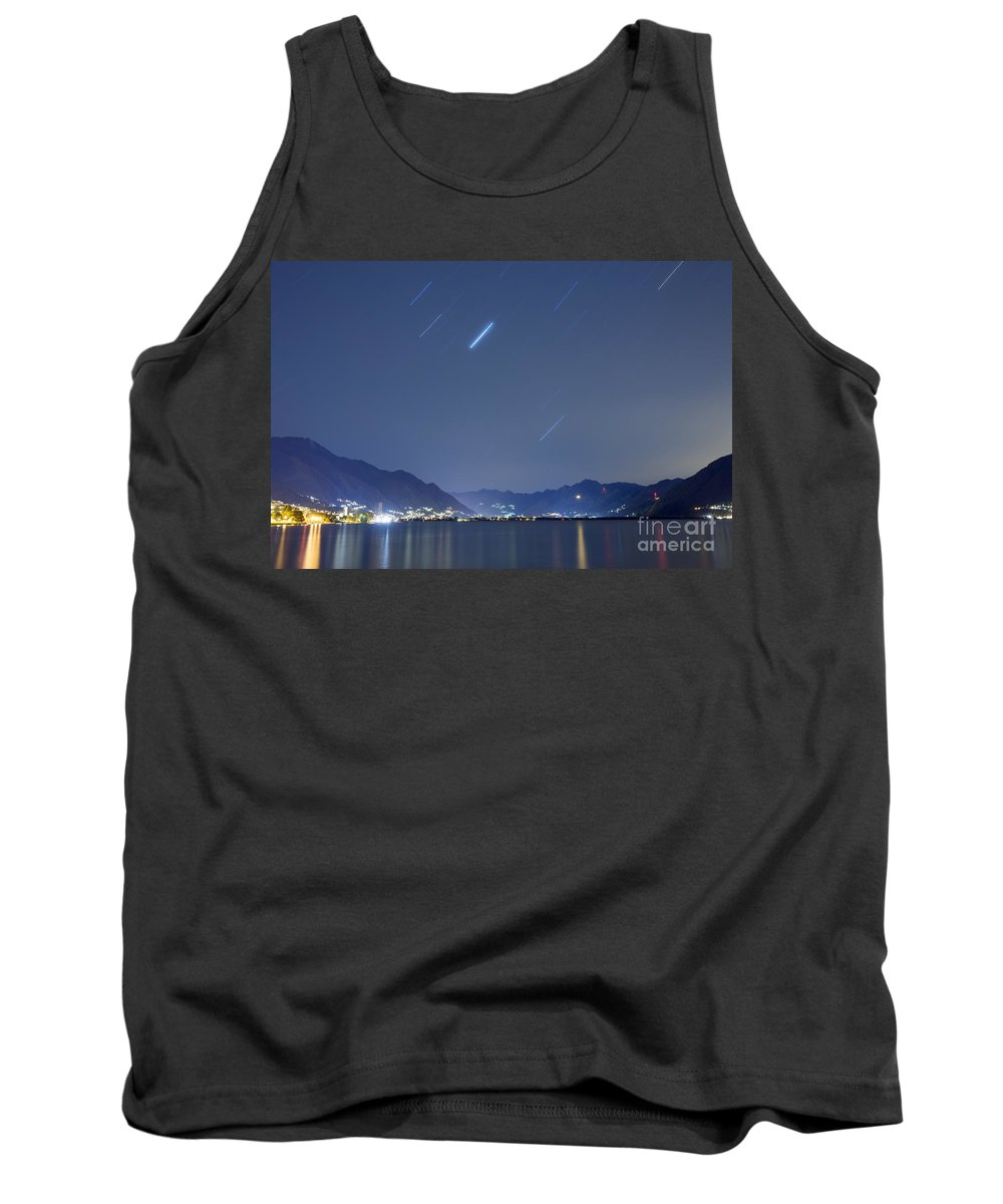 Lago Maggiore Tank Top featuring the photograph Alpine Lake by Mats Silvan