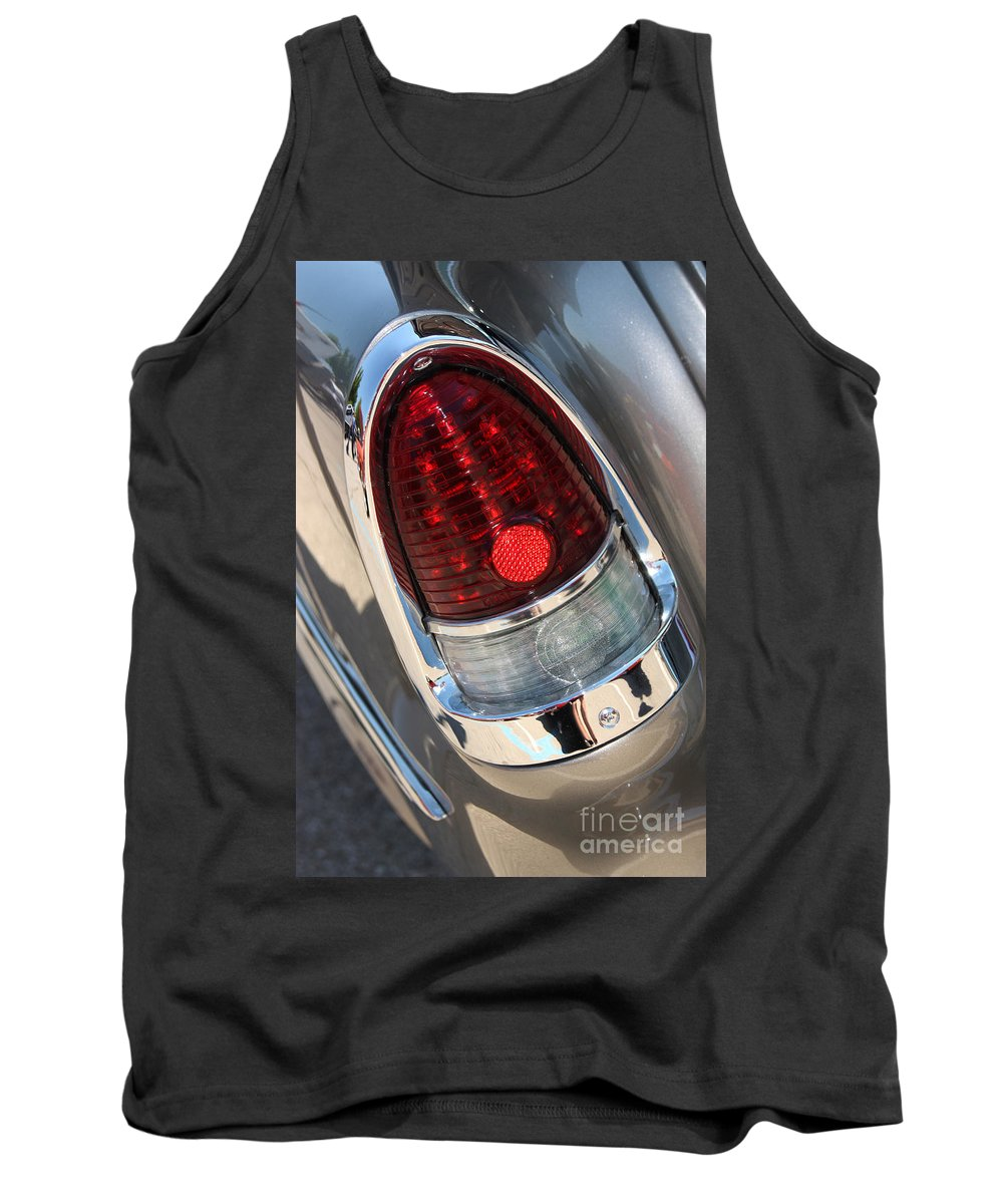 1955 Chevrolet Bel Air Tank Top featuring the photograph 55 Bel Air Tail Light-8184 by Gary Gingrich Galleries