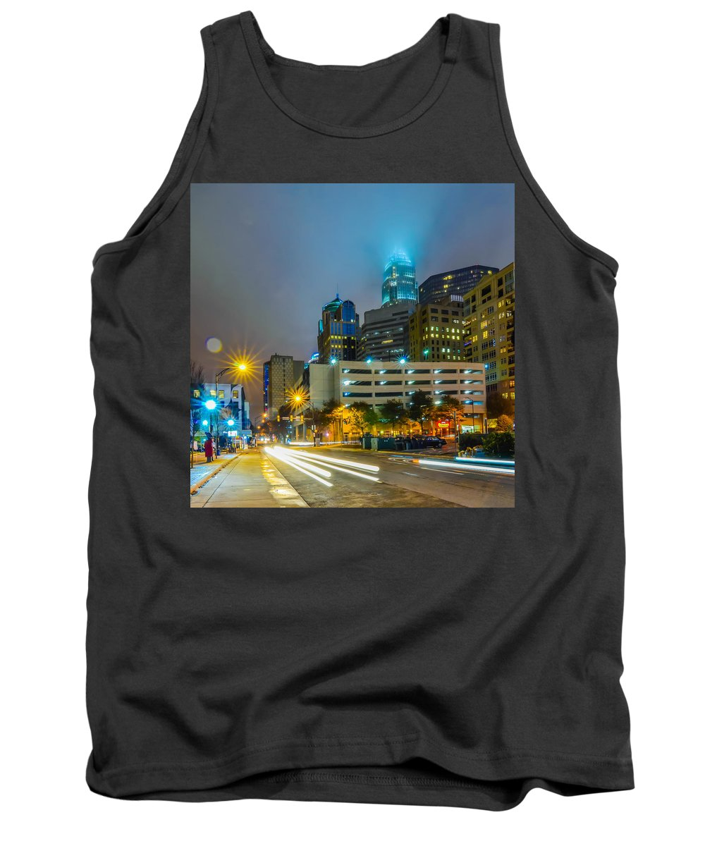 American Tank Top featuring the photograph Charlotte City Skyline by Alex Grichenko