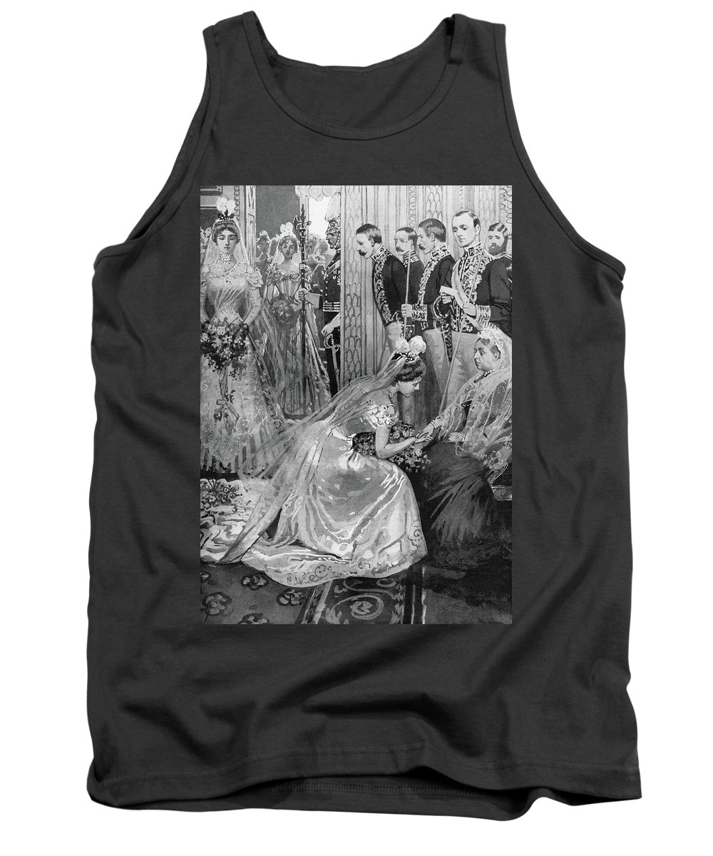 1899 Tank Top featuring the drawing Queen Victoria (1819-1901) by Granger
