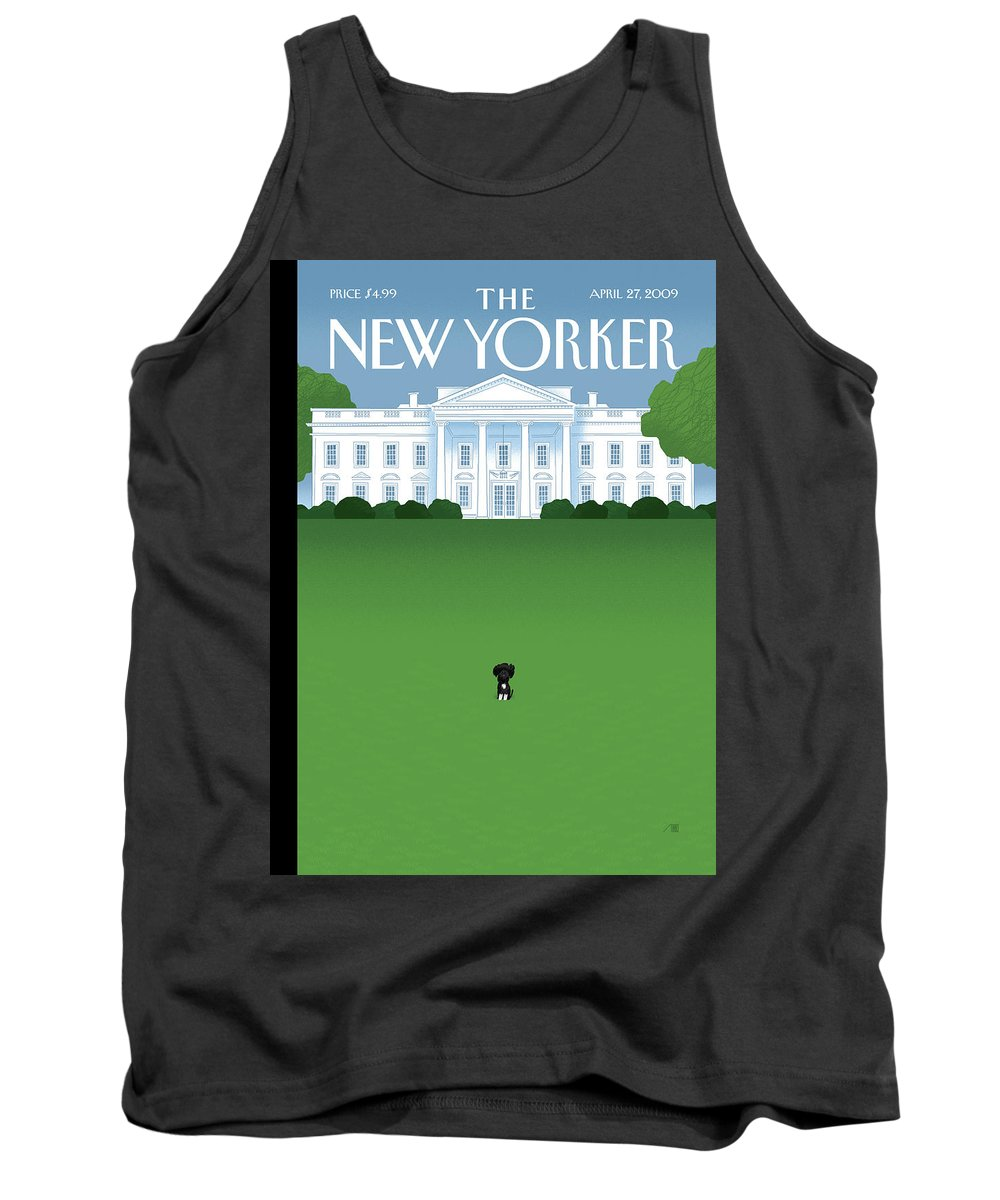 Obama Tank Top featuring the painting New Yorker April 27th, 2009 by Bob Staake