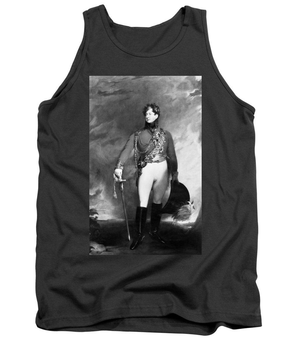 1815 Tank Top featuring the painting George Iv (1762-1830) by Granger