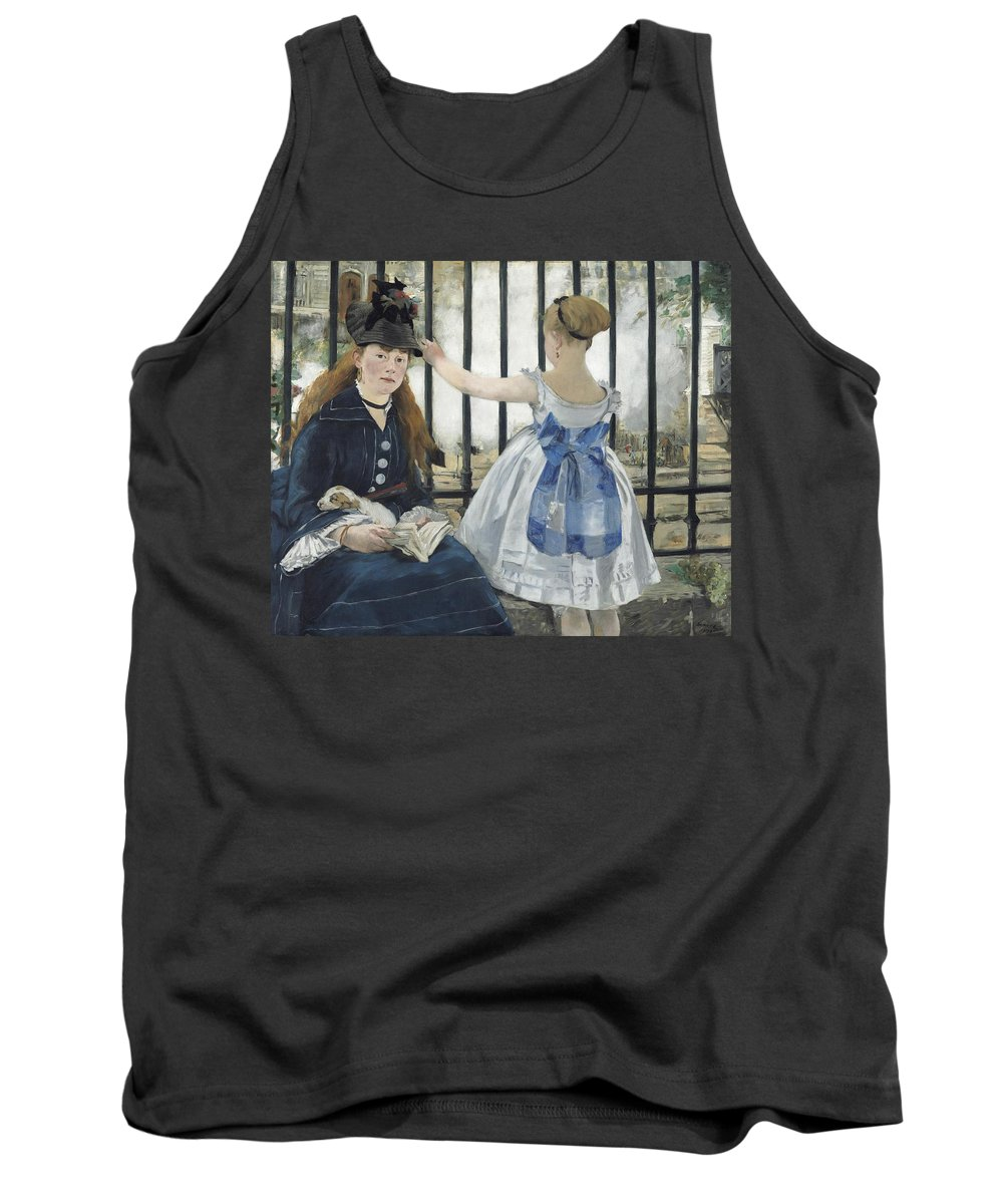 The Railway Tank Top featuring the painting The Railway by Edouard Manet