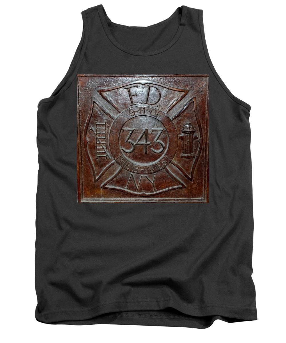 Fdny Tank Top featuring the photograph 9 11 01 F D N Y 343 by Rob Hans