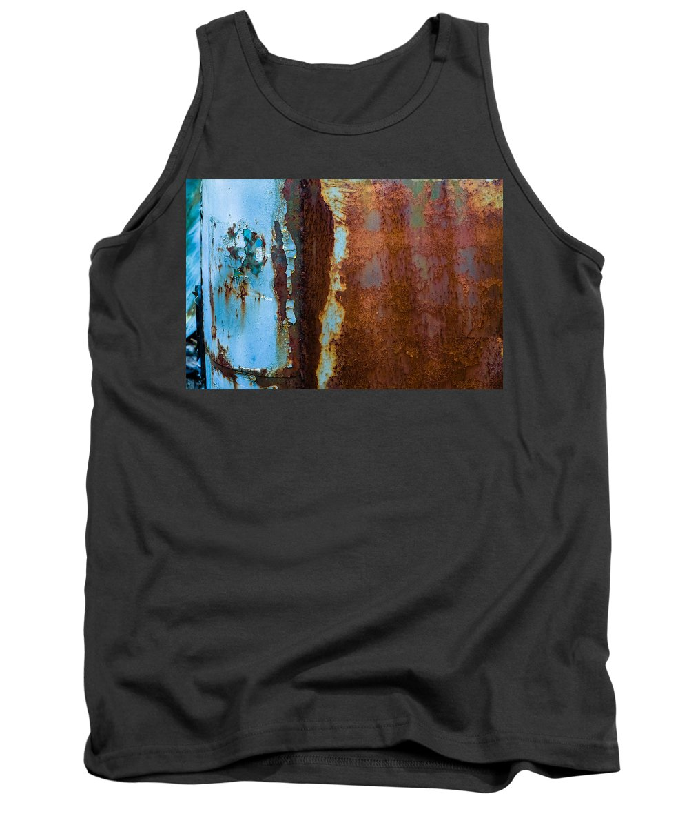 Abstract Tank Top featuring the photograph Colored Rust Metal by Alain De Maximy