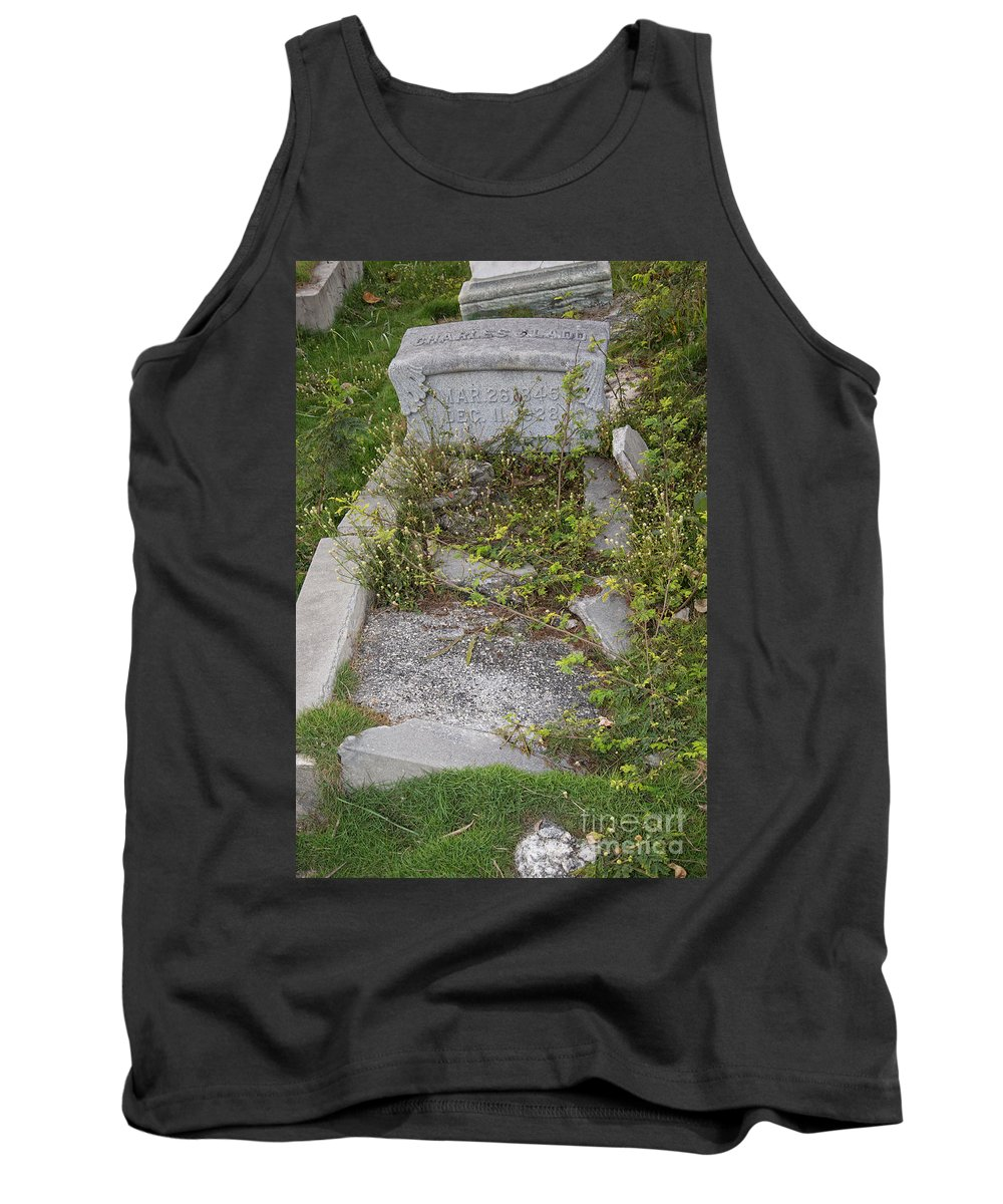 Cemetery Tank Top featuring the digital art Key West Cemetery by Carol Ailles