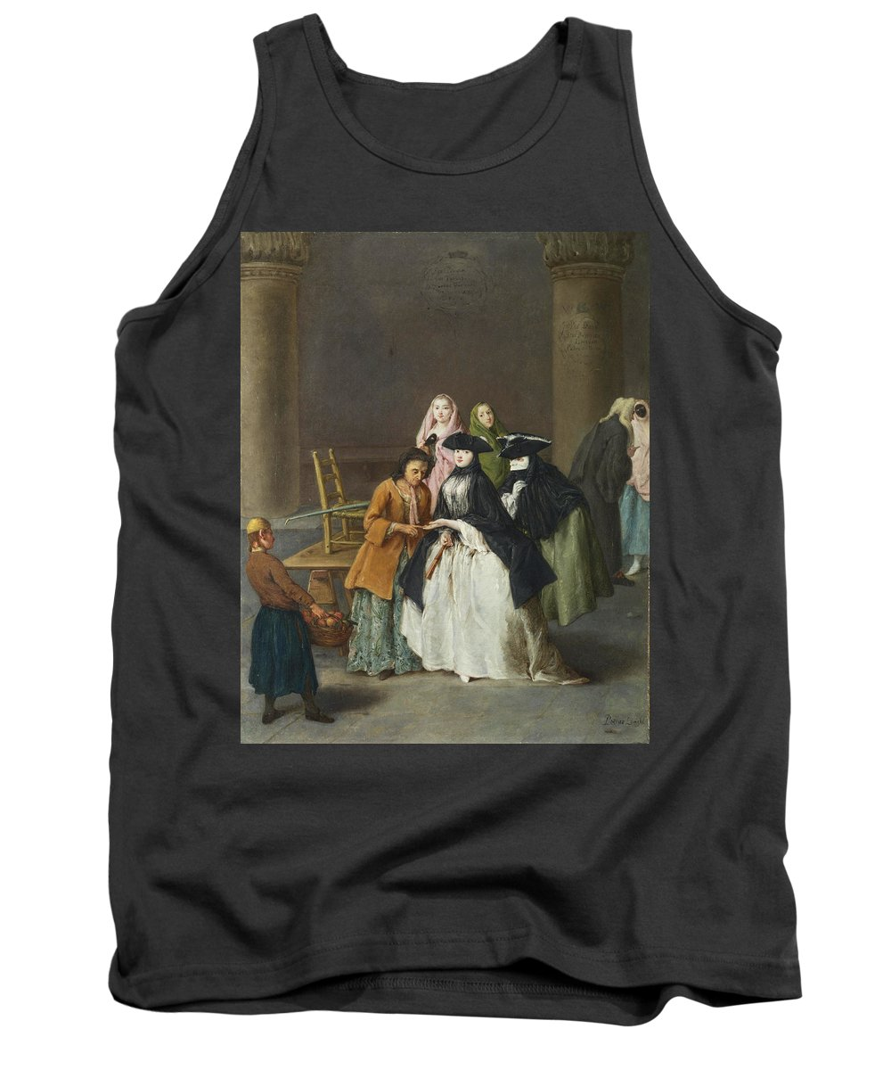 Pietro Longhi Tank Top featuring the painting A Fortune Teller At Venice by Pietro Longhi
