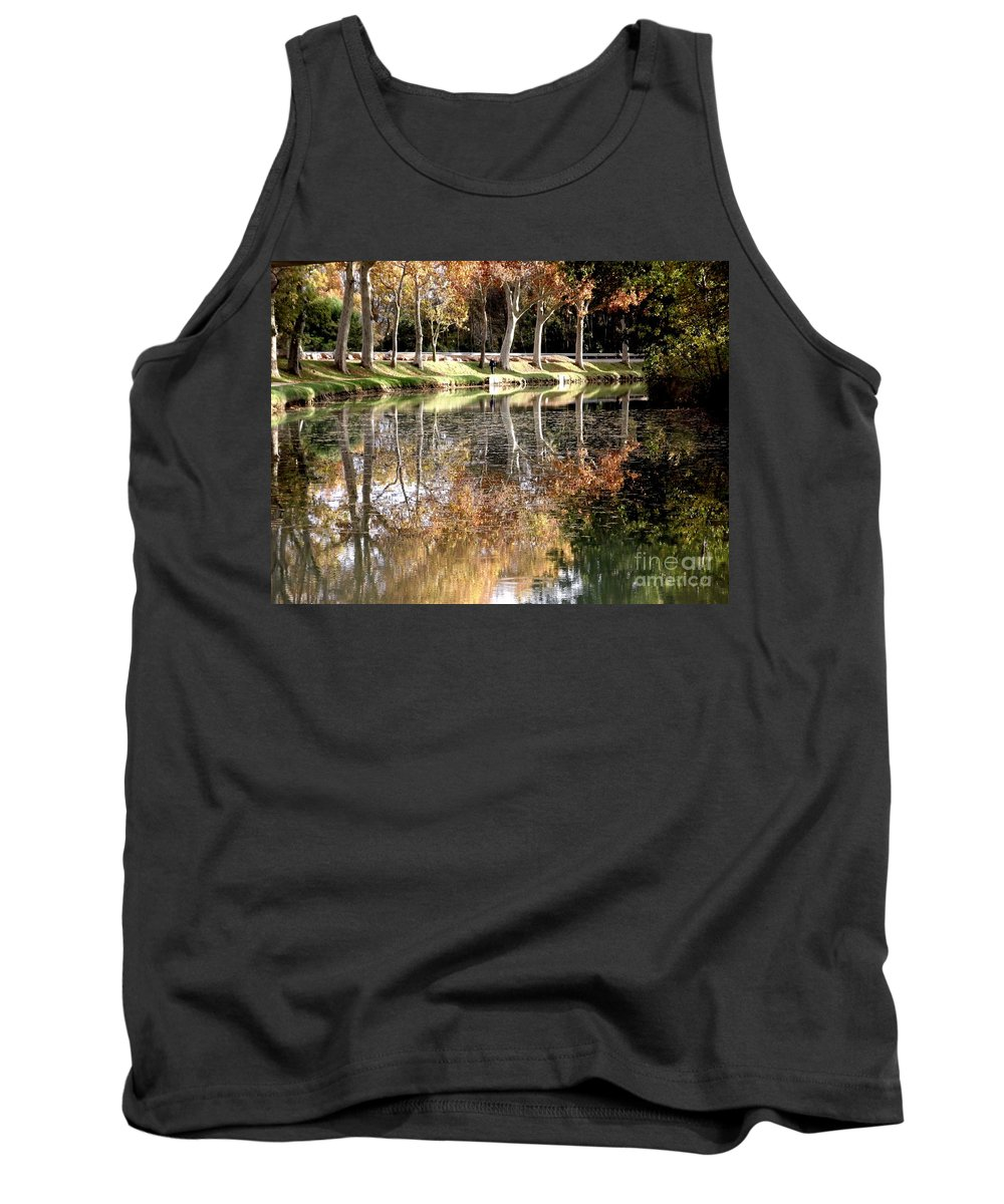 Autumn Tank Top featuring the photograph A Golden Moment by France Art
