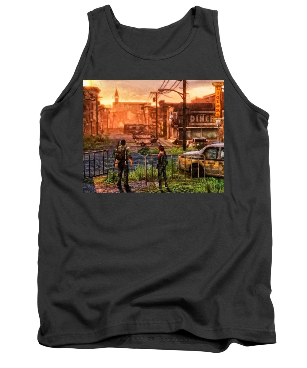 Movie Tank Top featuring the painting A Long Journey by Joe Misrasi