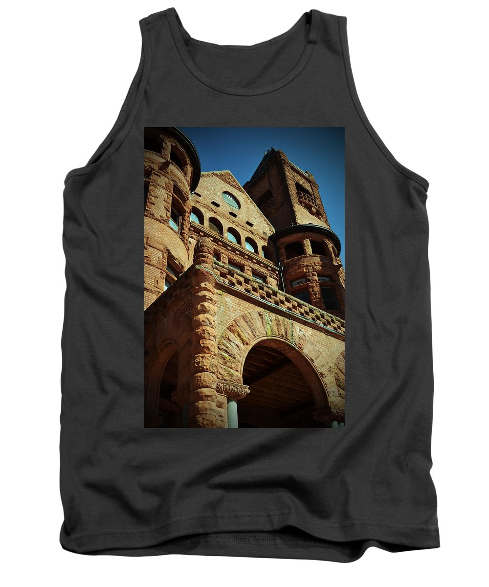 Preston Tank Top featuring the photograph A Looming Castle by Holly Blunkall