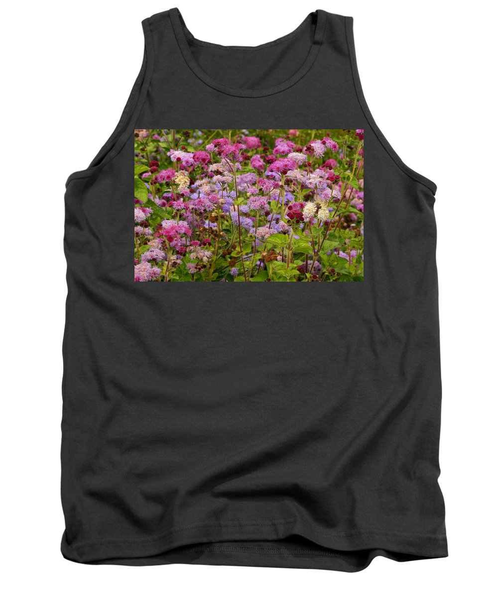Colorful Small Flower Group Tank Top featuring the photograph A Lovely Fall Palette by Byron Varvarigos