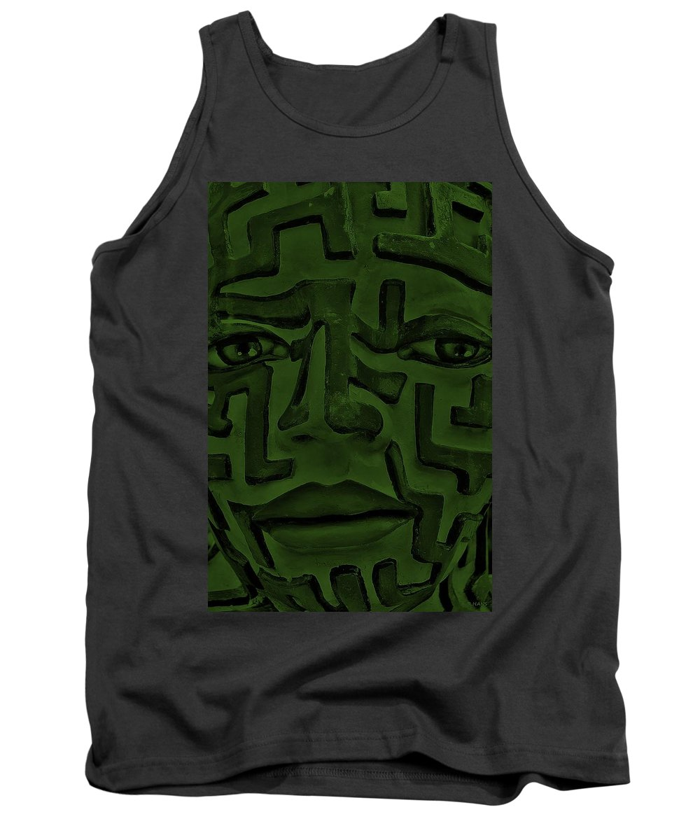Maze Tank Top featuring the photograph A Mazing Olive Face by Rob Hans