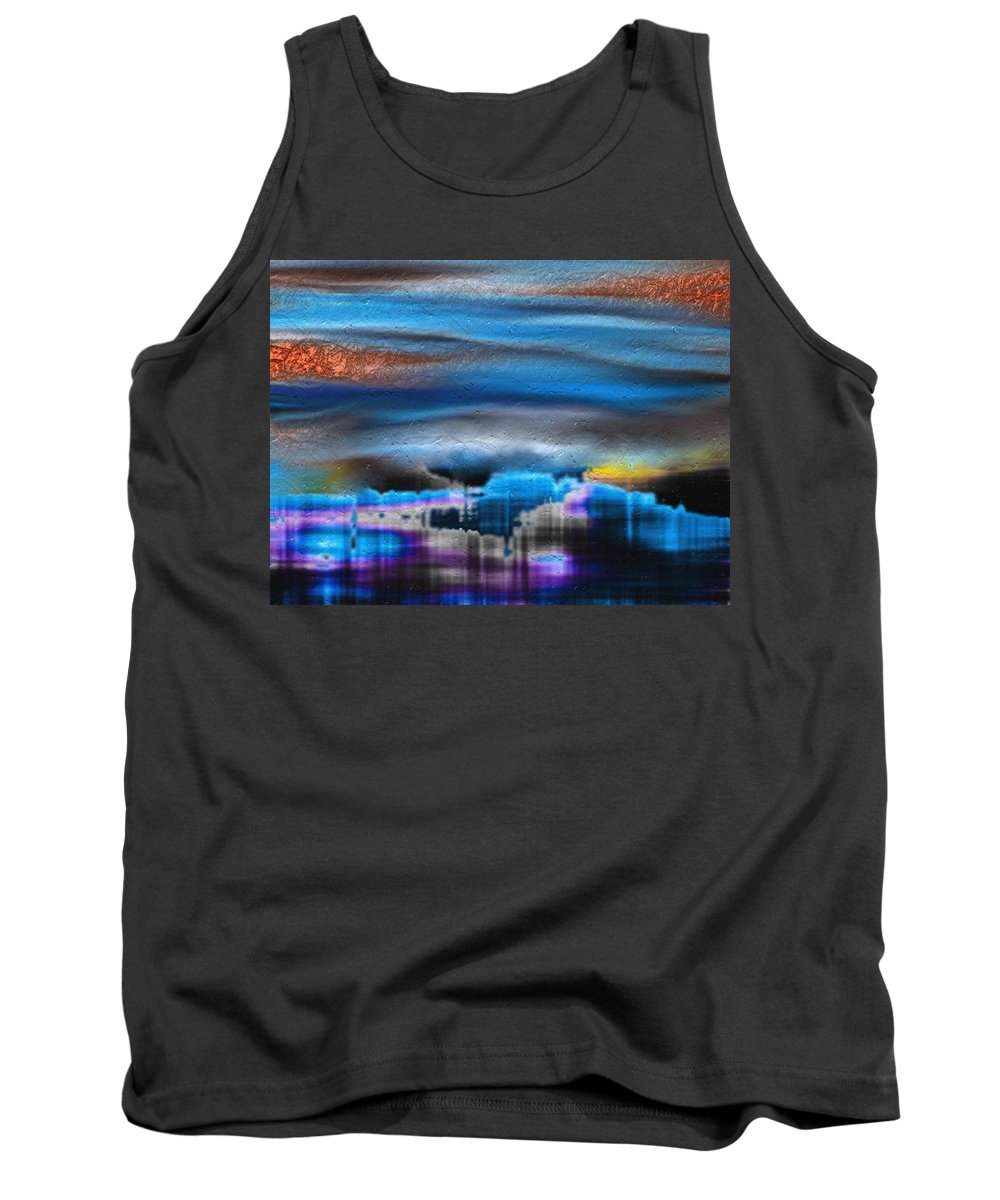 Sky Tank Top featuring the digital art A Moment In Time by Tina Vaughn