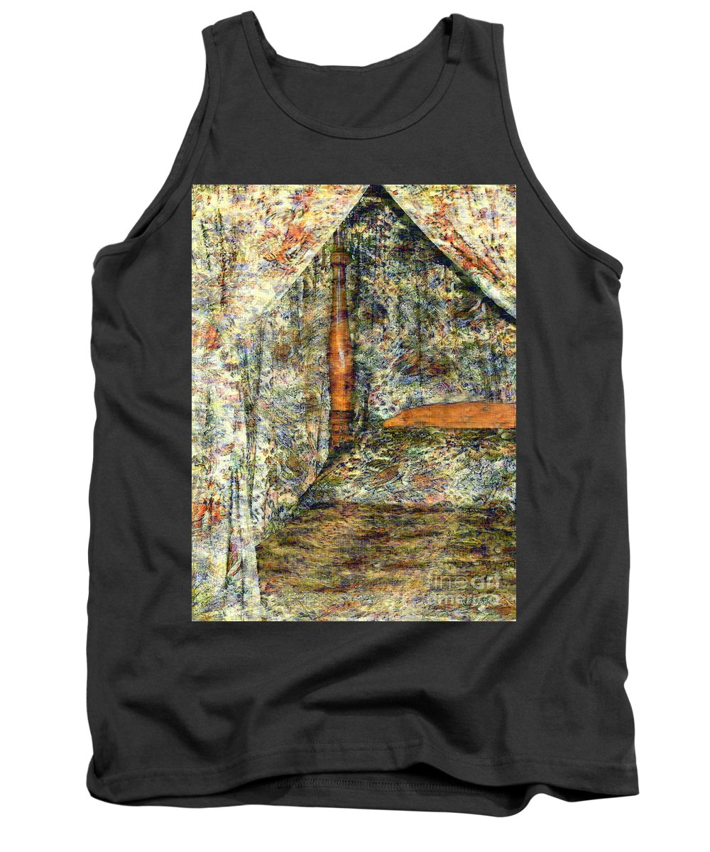 Antiques Tank Top featuring the painting A Profusion Of Chintz by RC DeWinter