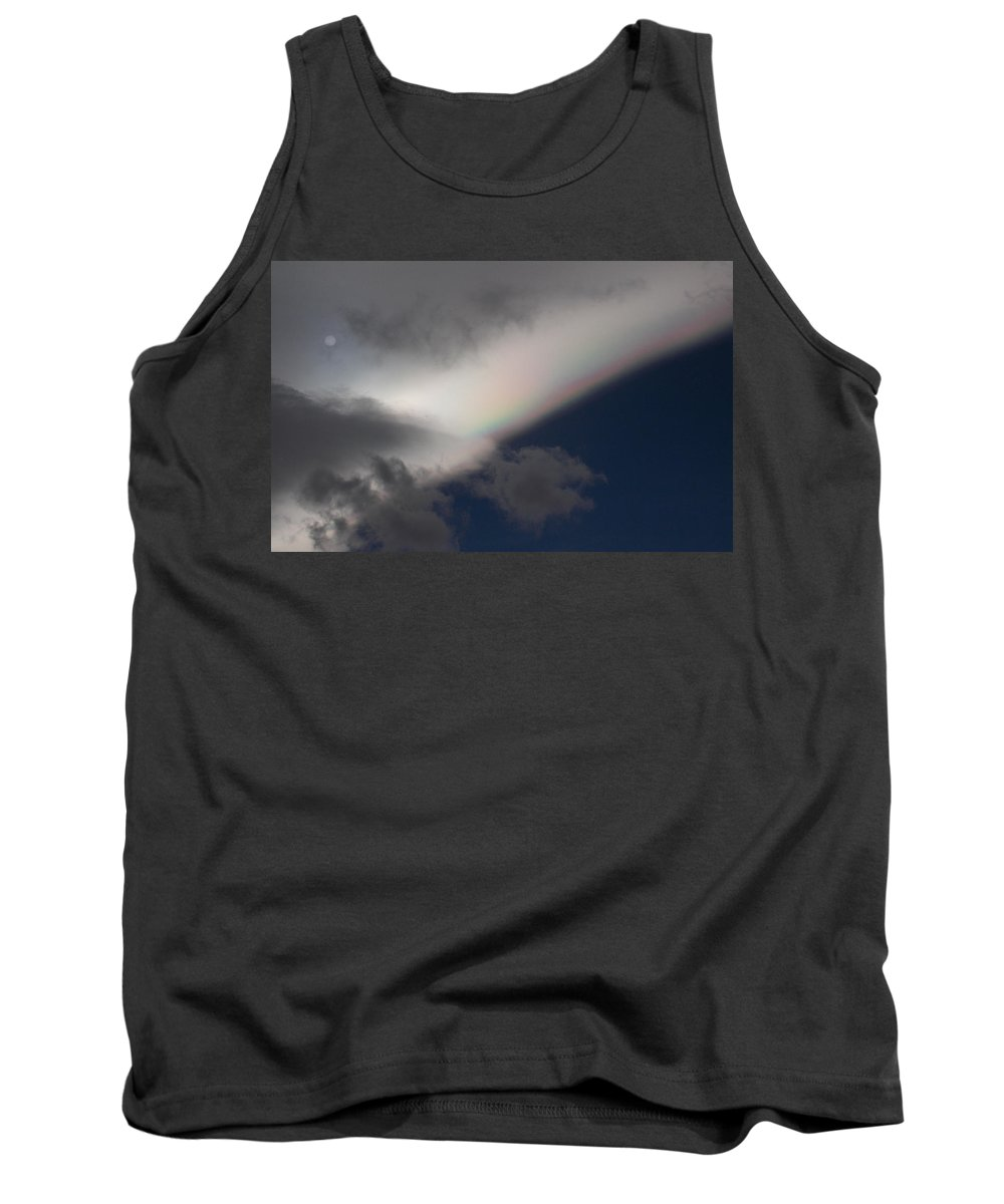 Rainbows Tank Top featuring the photograph A Rainbow Lining by Brent Dolliver
