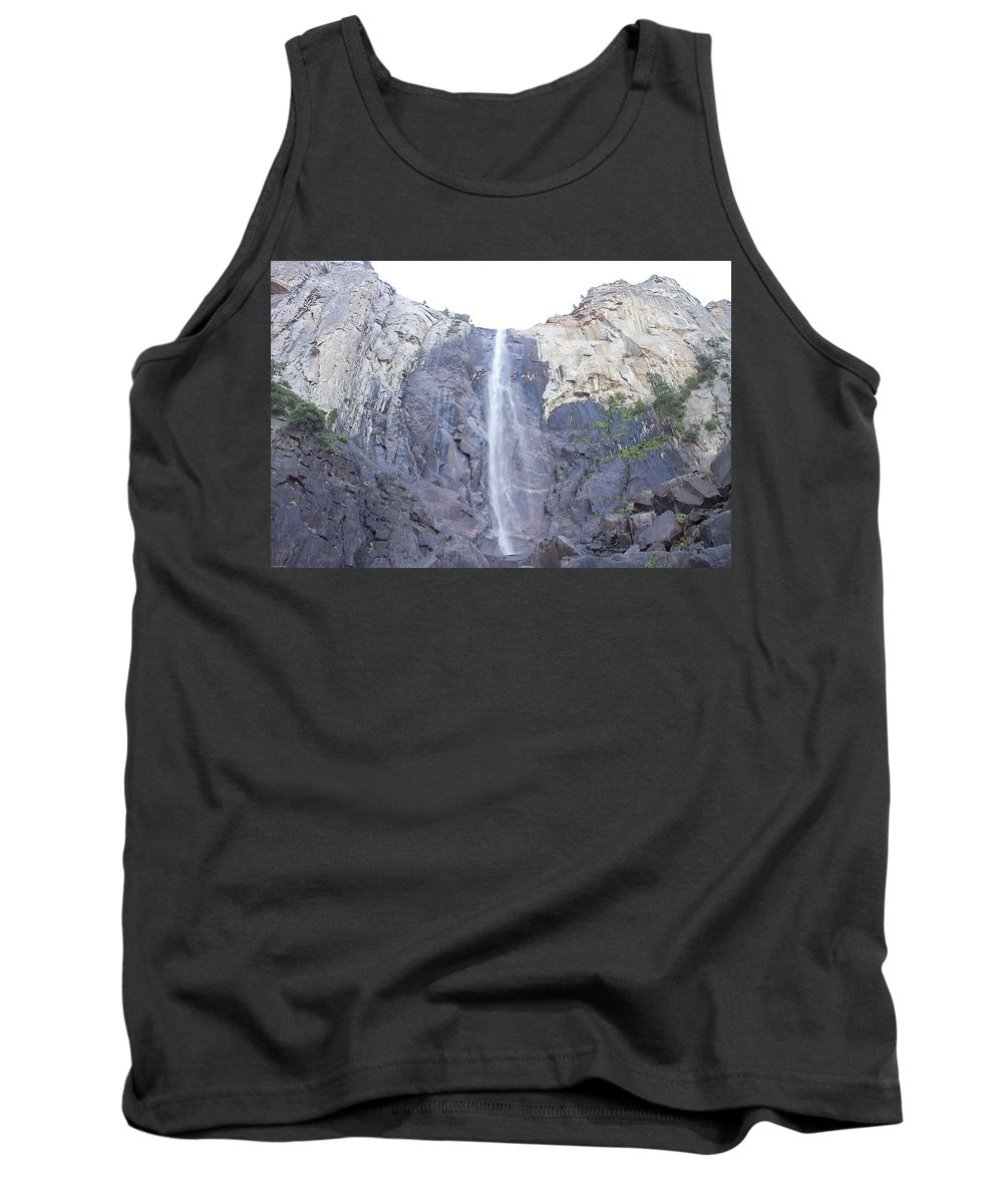 Falls Tank Top featuring the photograph A Rock Face by Brian Williamson