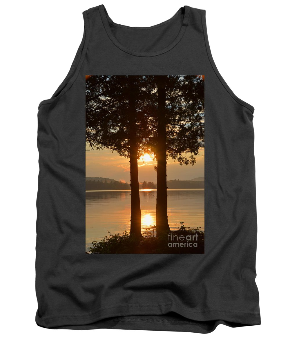 Saranac Lake Ny Tank Top featuring the photograph A Star Between Two Old Friends by Christine Dekkers
