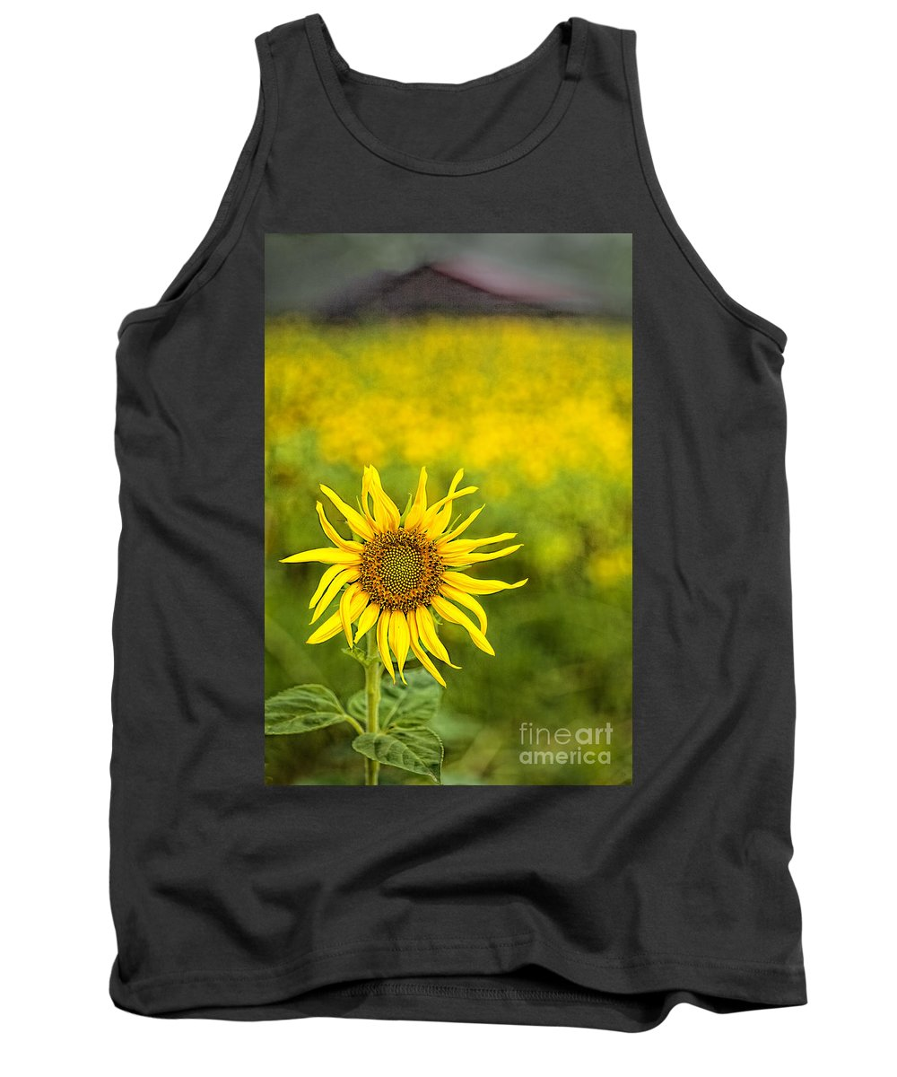 Sunflower Tank Top featuring the photograph A Sunny Funny Day by Linda D Lester