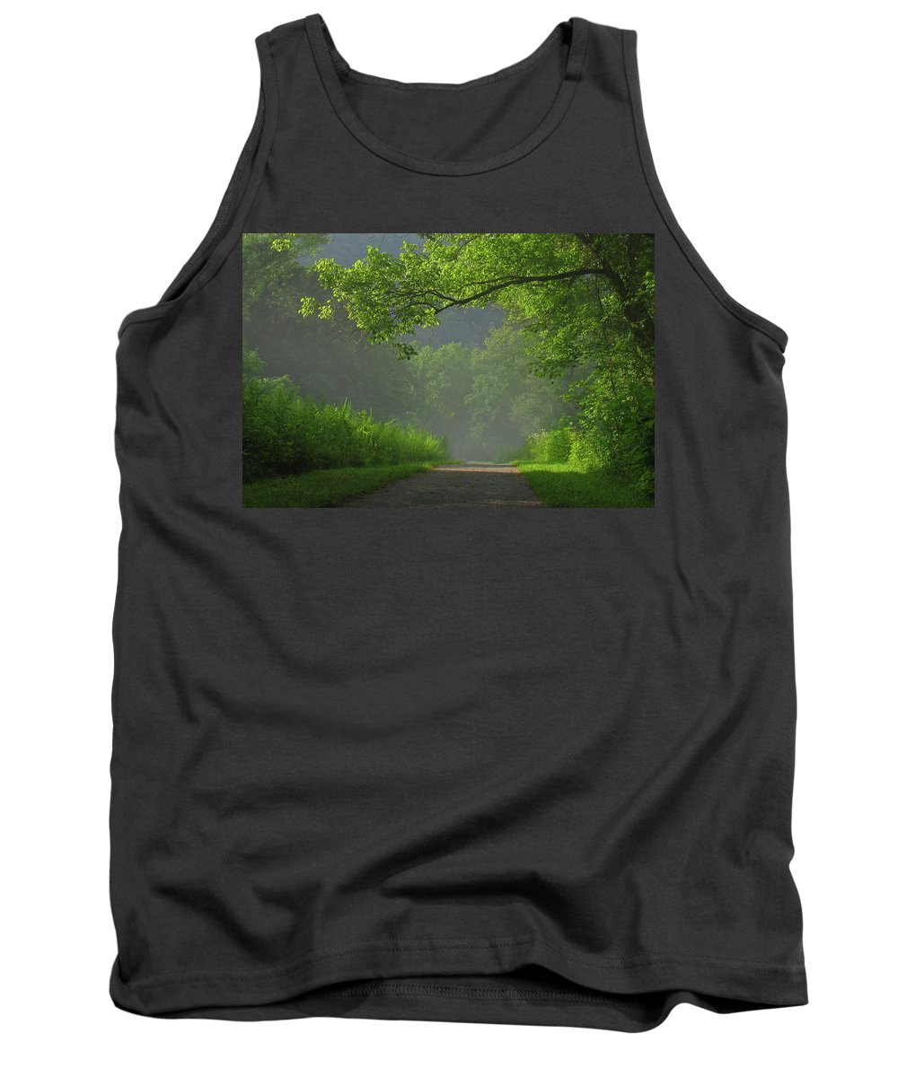 Green Tank Top featuring the photograph A Touch Of Green by Douglas Stucky