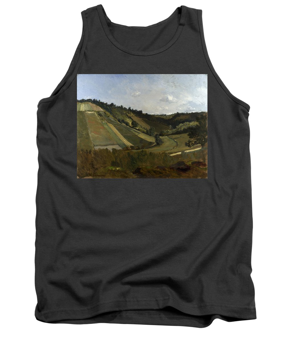 Philippe Rousseau Tank Top featuring the painting A Valley by Philippe Rousseau