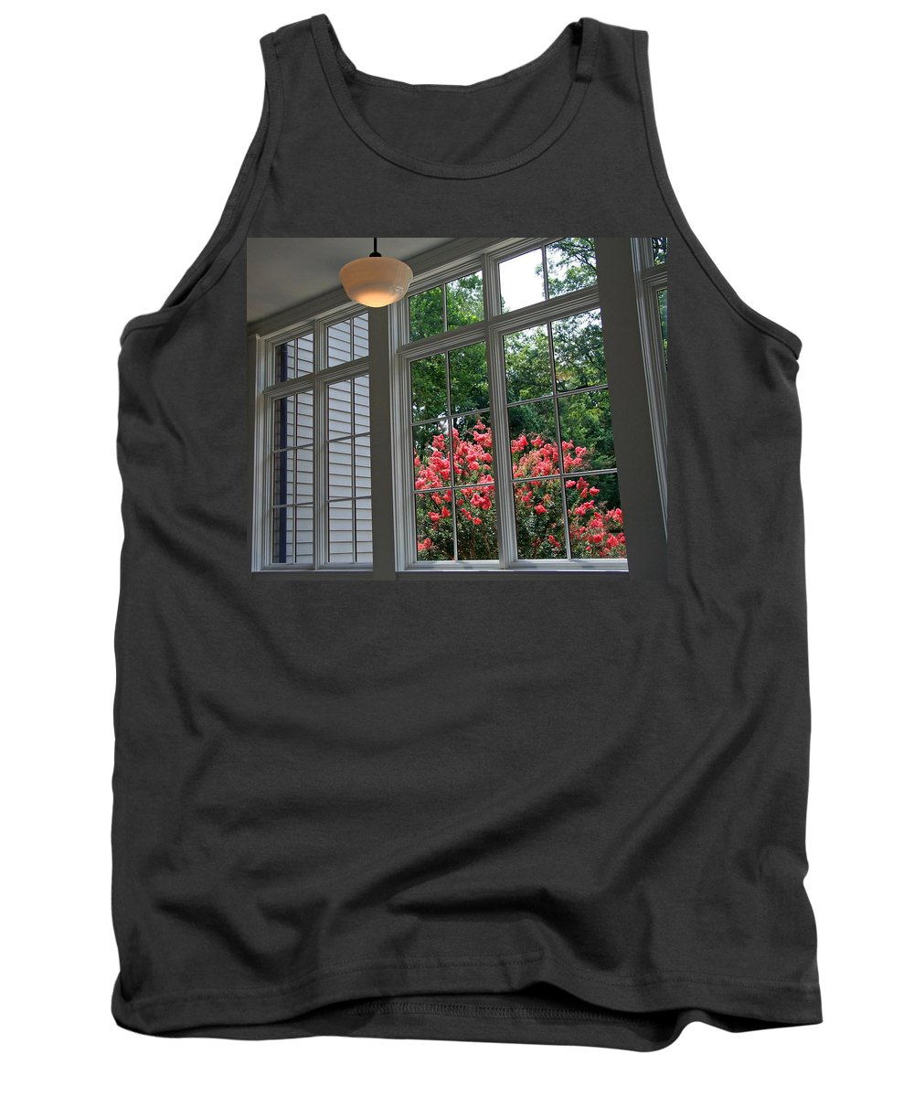 Black Tank Top featuring the photograph A View From Black Market by Cora Wandel