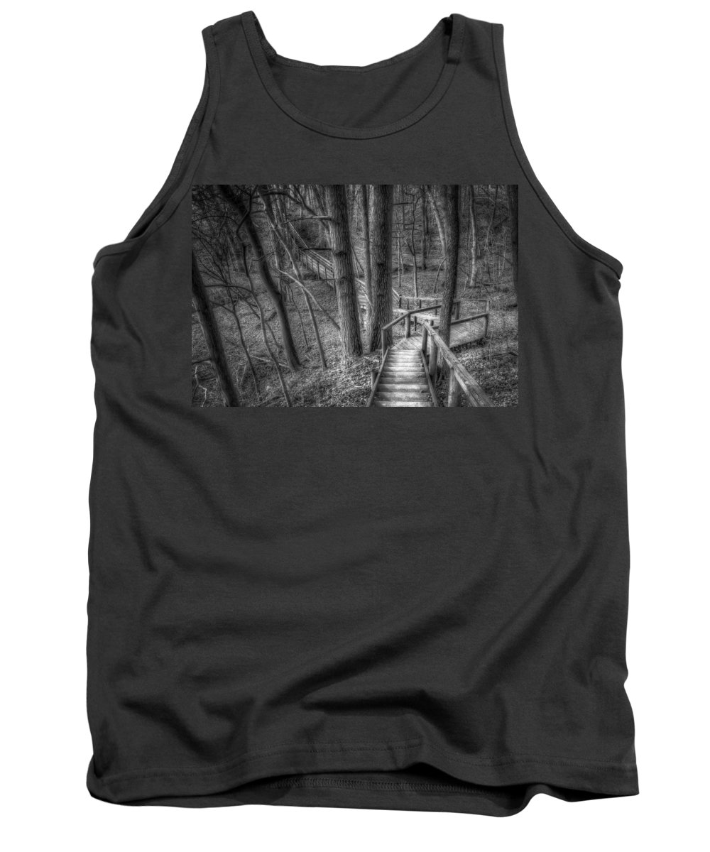Trees Tank Top featuring the photograph A Walk Through The Woods by Scott Norris