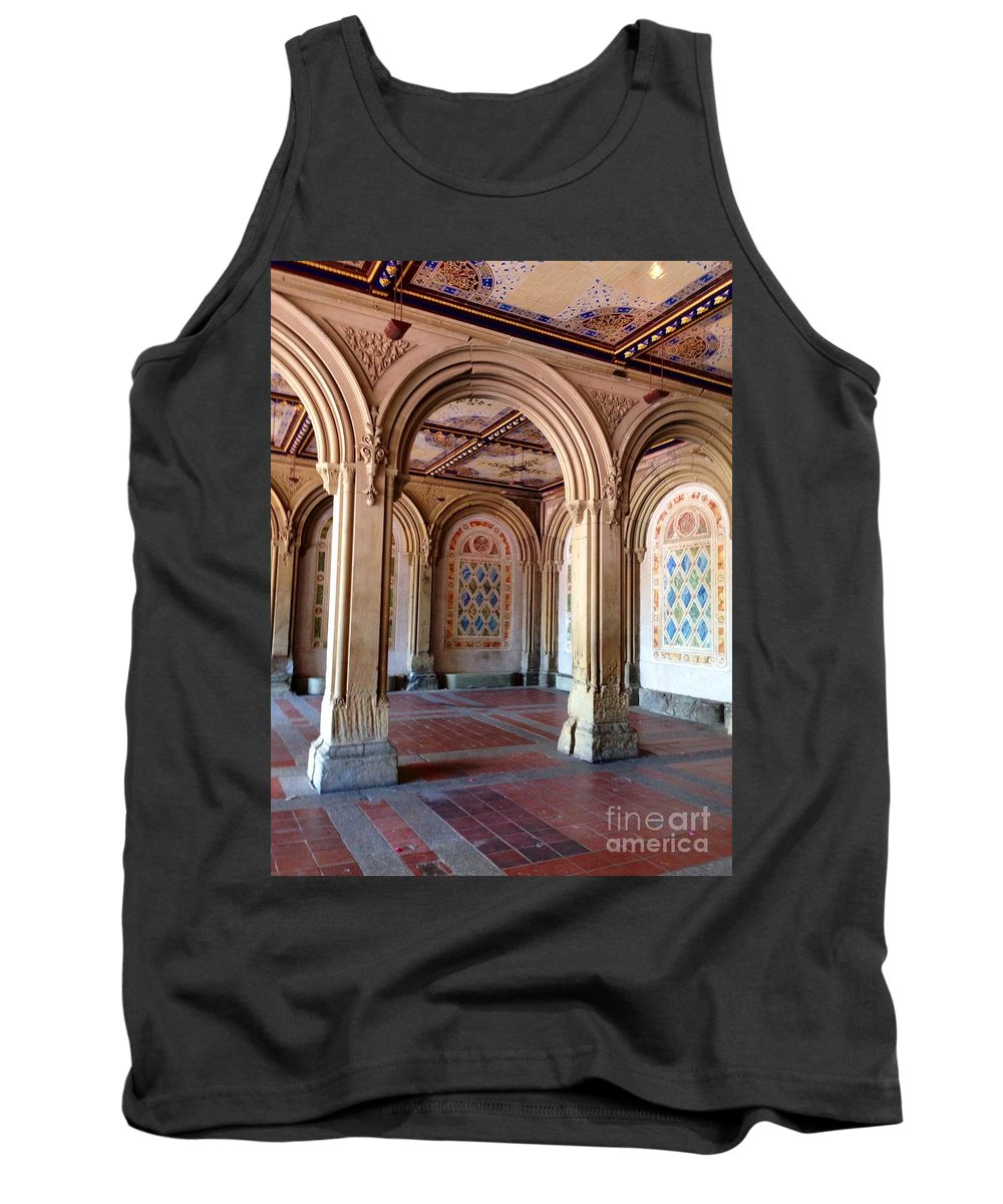 Arches Tank Top featuring the photograph Architecture In Central Park by Christy Gendalia