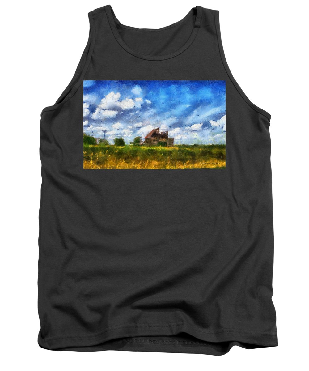 Farm Tank Top featuring the photograph Abandoned Farm 03 Photo Art by Thomas Woolworth