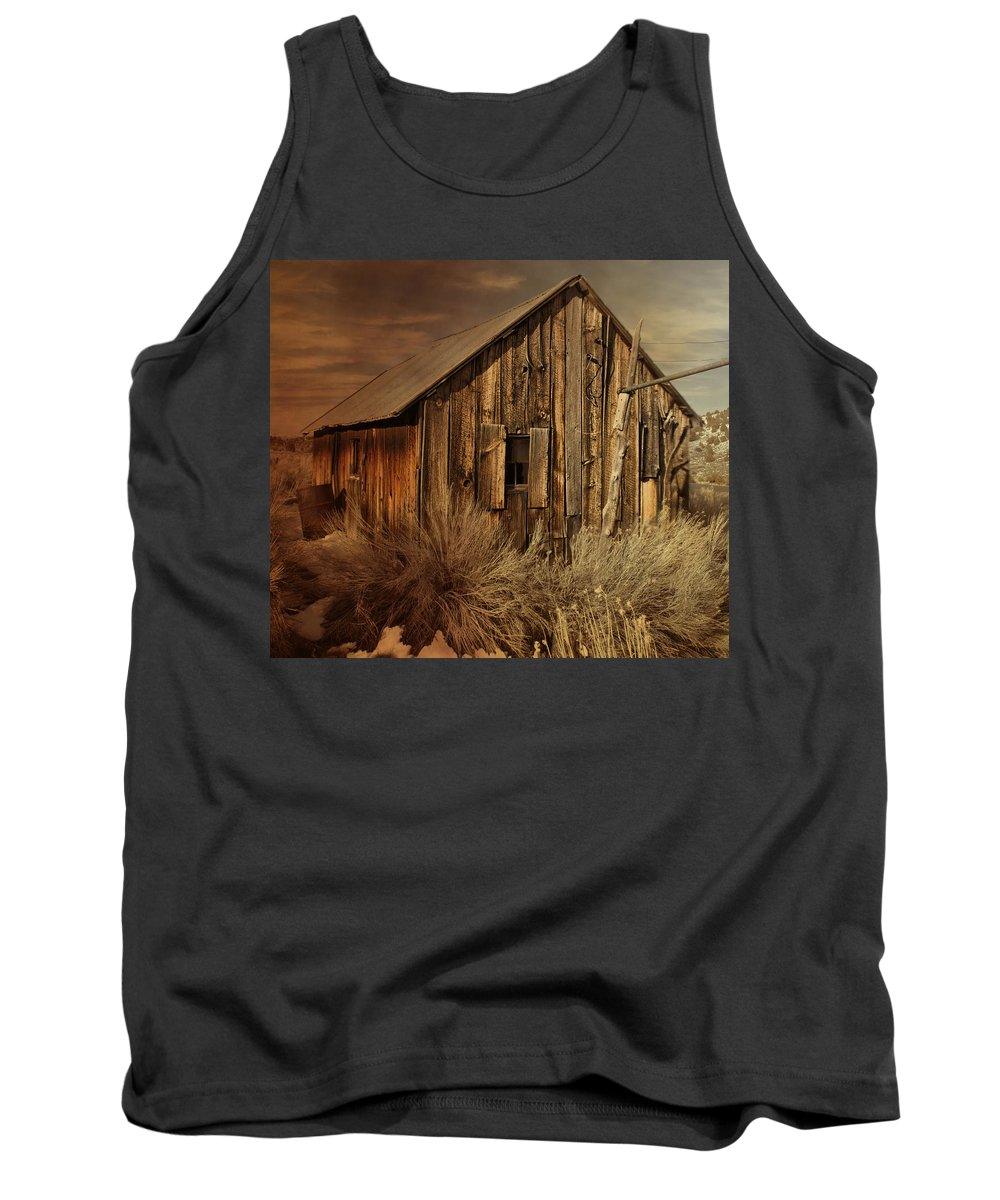 Antique Tank Top featuring the photograph Abandoned In The West by Evie Carrier